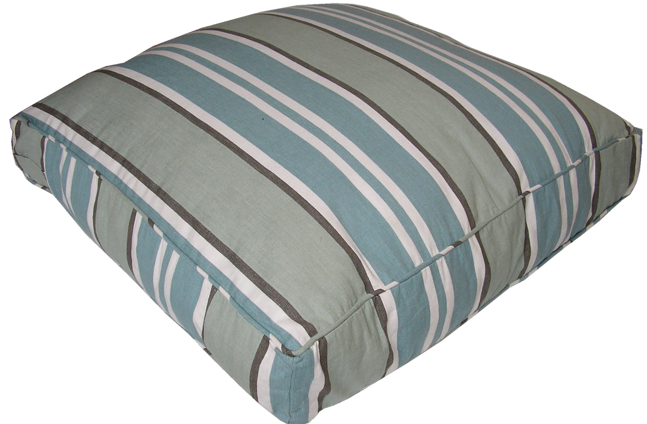 Large Floor Cushions - Kendo Teal Stripe