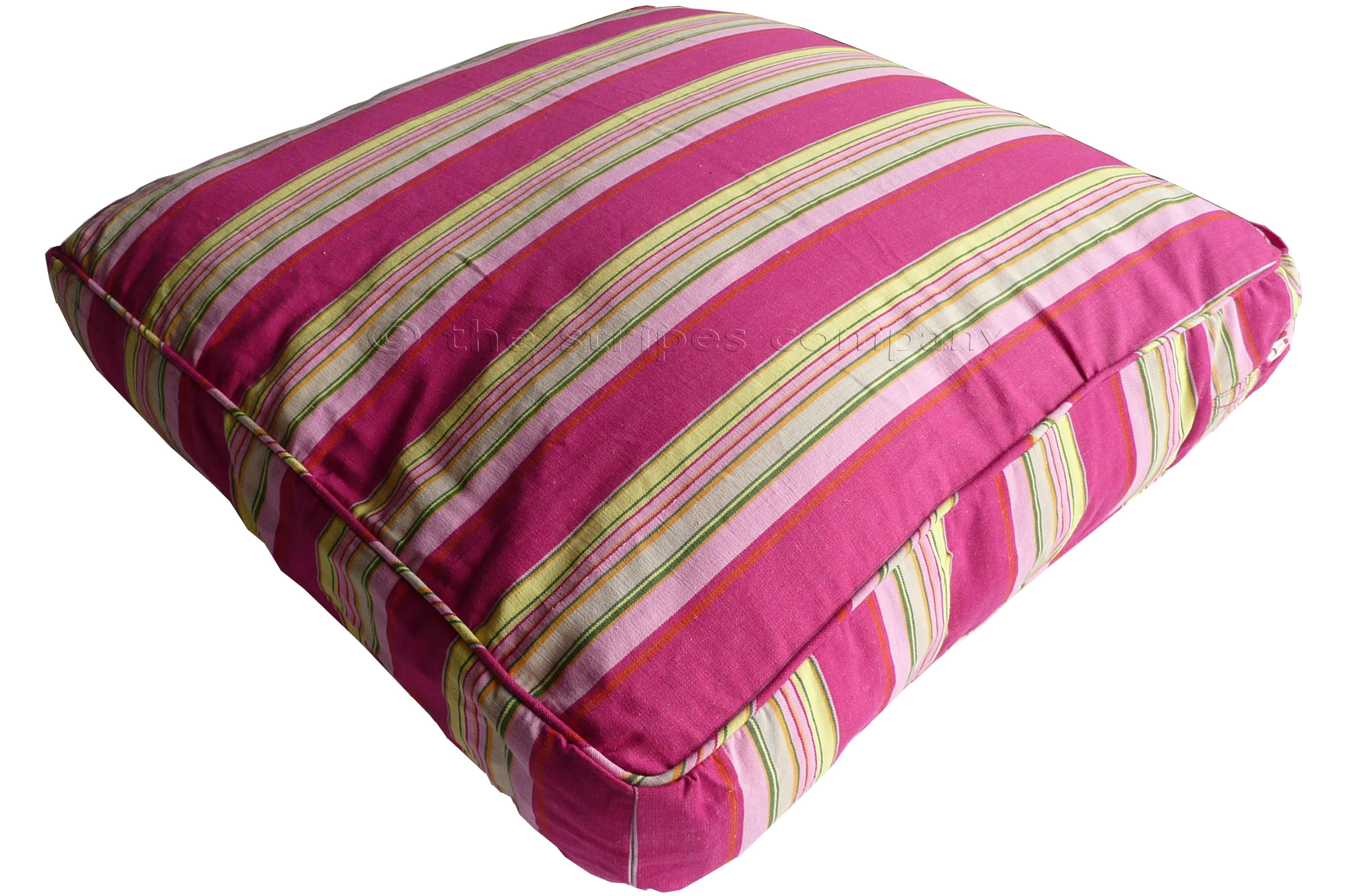 Pink Striped Floor Cushions The Stripes Company Uk