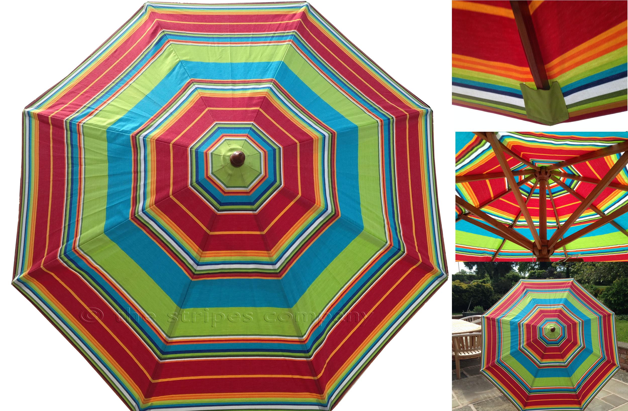 Striped Parasols Large Stripe Garden Patio Umbrellas