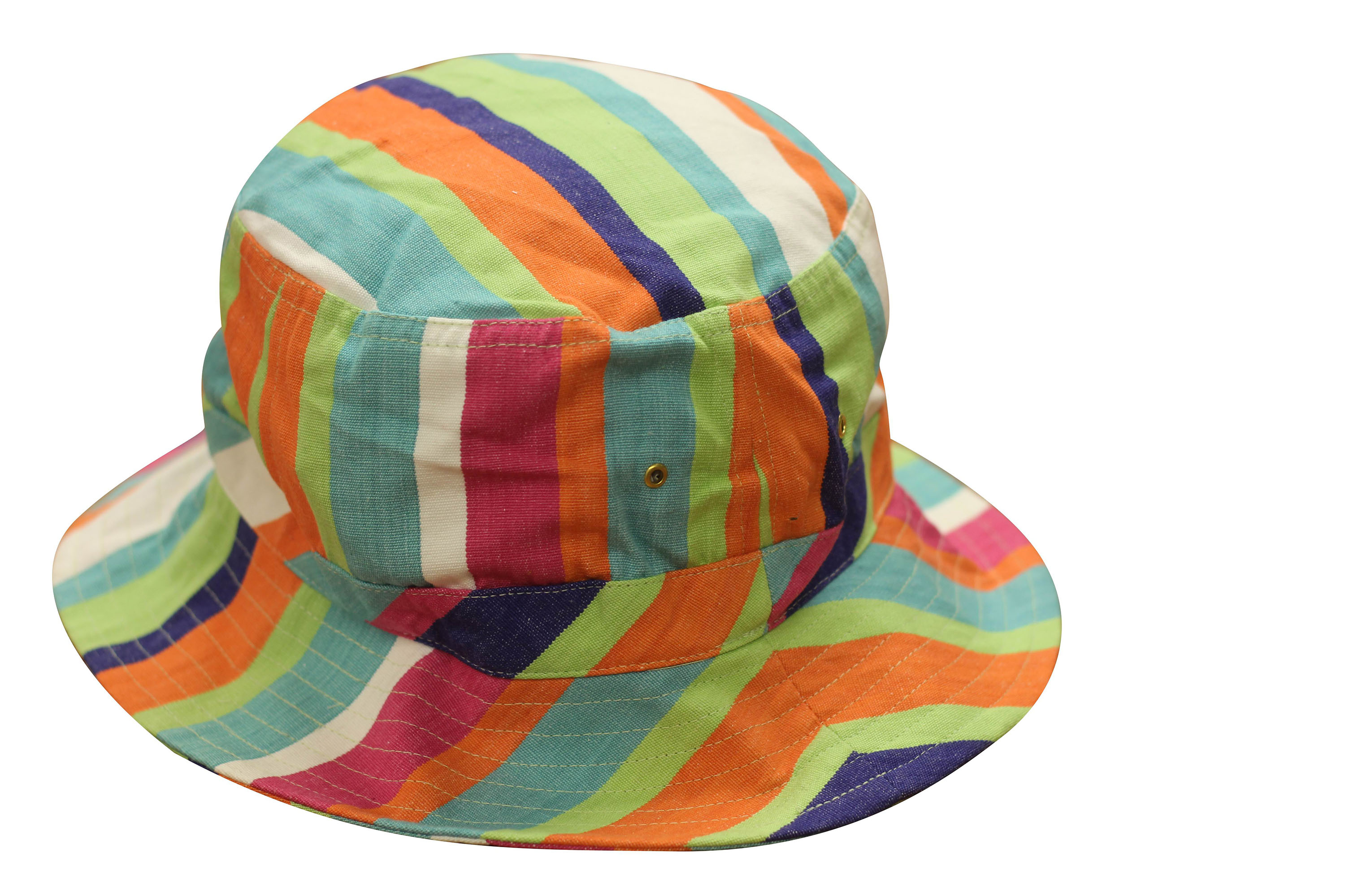 Navy Striped Sun Hats | Sun Protection Hat  Abseiling Stripe