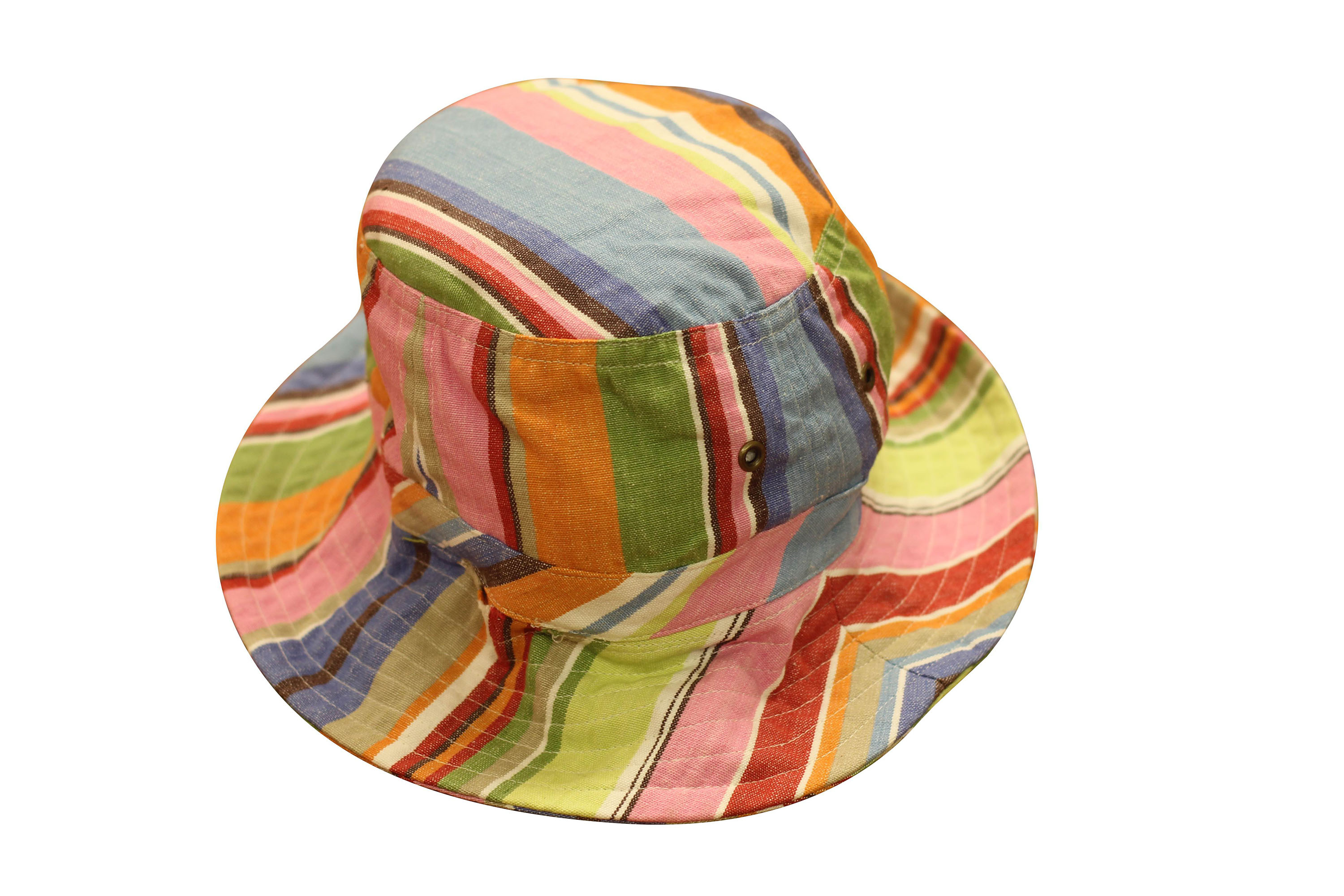 Light Blue Striped Sun Hats | Sun Protection Hat  Baseball Stripes