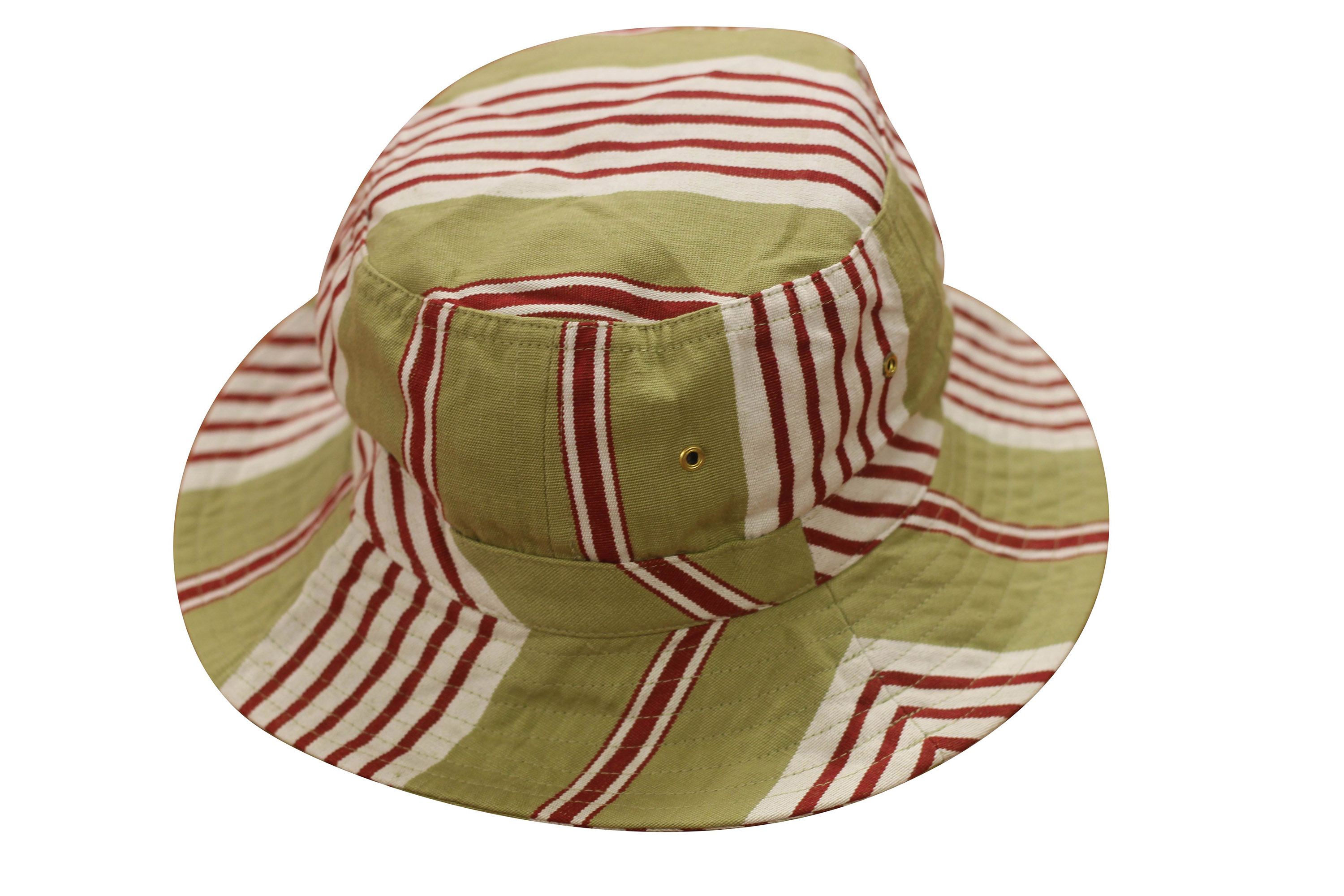 Olive Striped Sun Hats | Sun Protection Hat  Billiards Stripes
