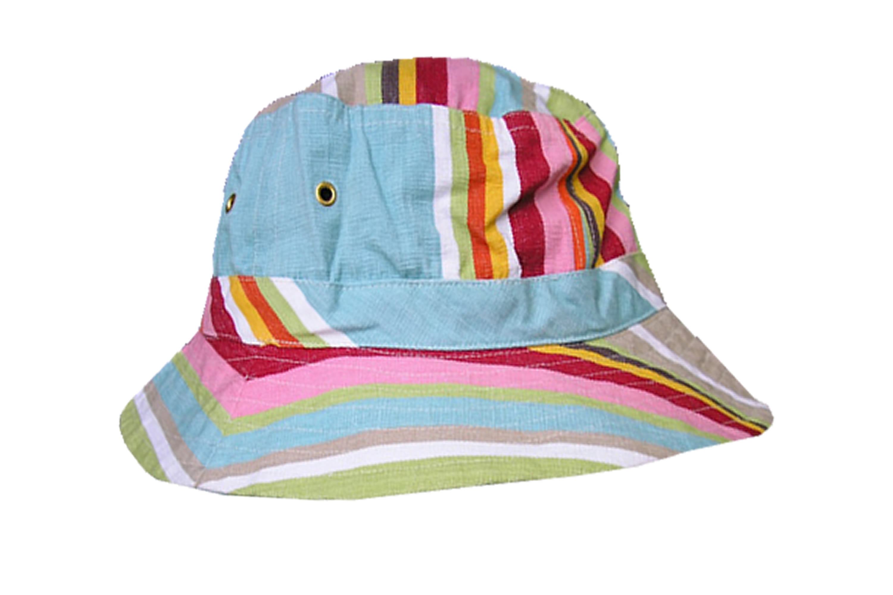 Duck Egg Blue Stripe Bucket Hats | Sun Hat Cricket Stripes