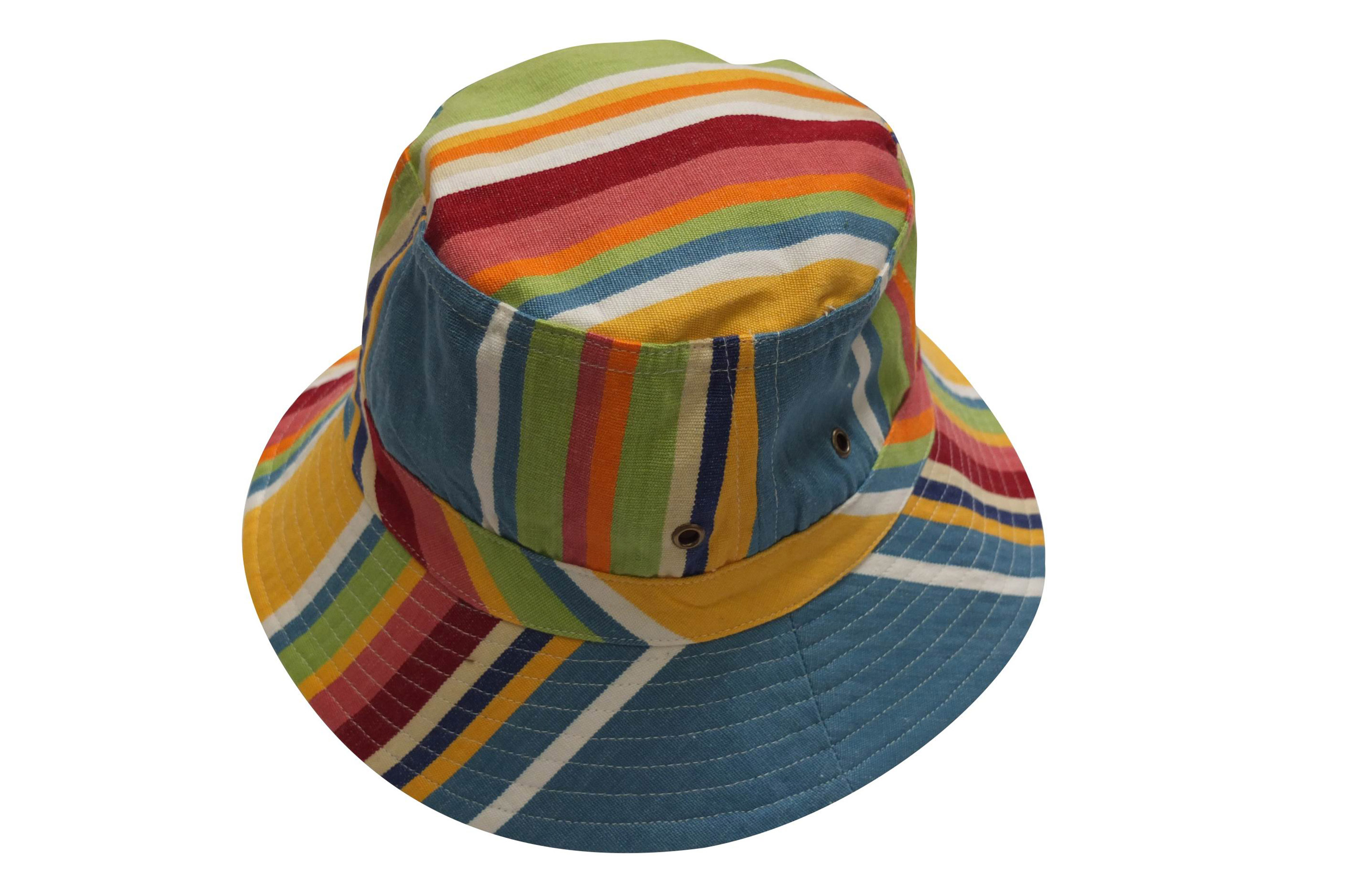Yellow Striped Sun Hats | Sun Protection Hat  Cricket Yellow Stripes