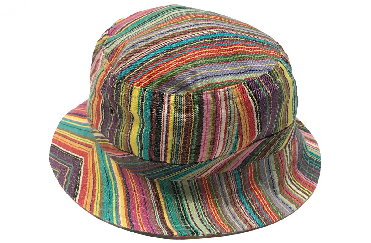 e96287d6a45 thin rainbow multi stripes - Striped Sun Hats