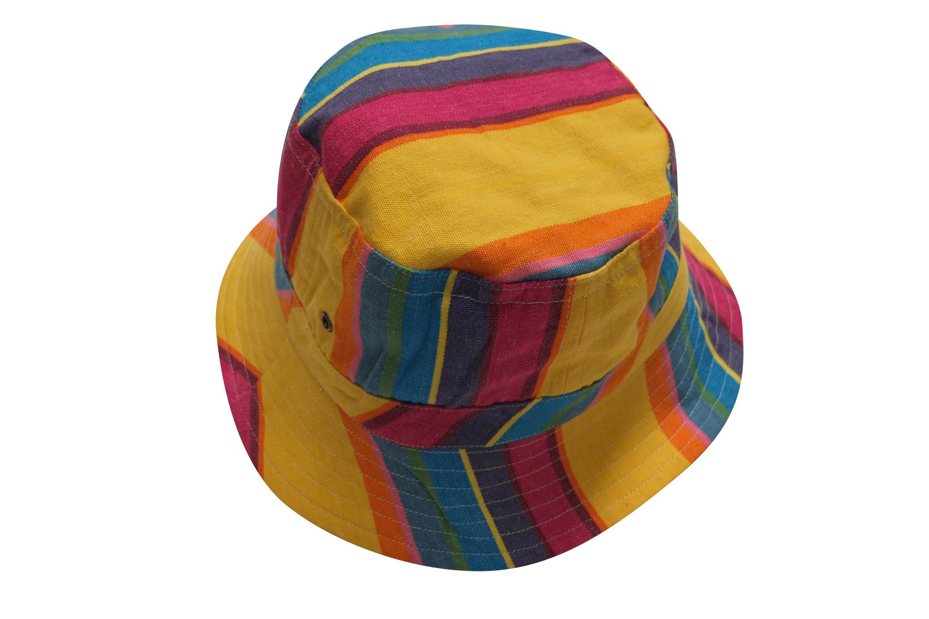 Yellow Striped Sun Hats | Sun Protection Hat | Pool Stripe