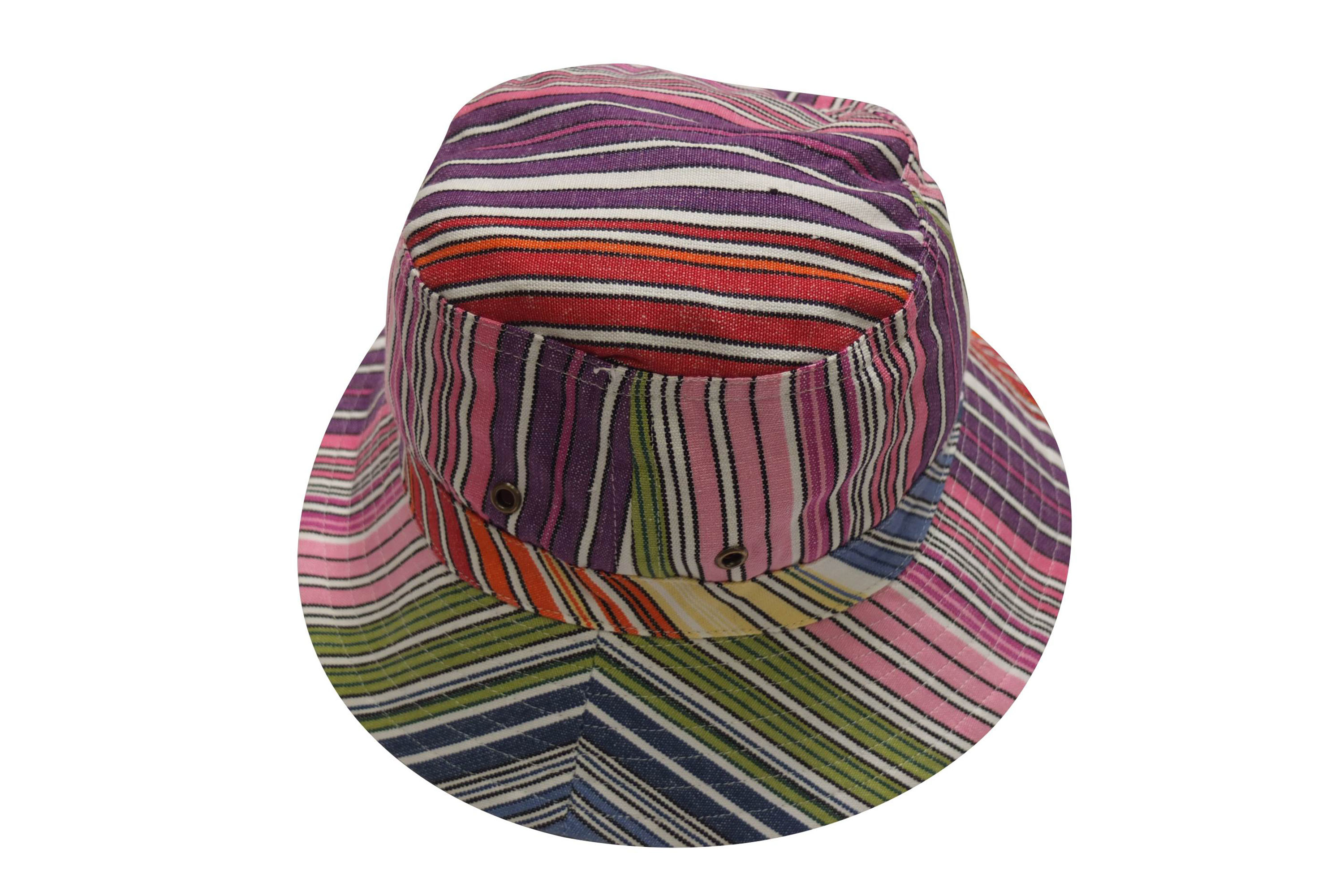 Pink Multi Striped Sun Hats | Sun Protection Hat | Rhumba Stripe