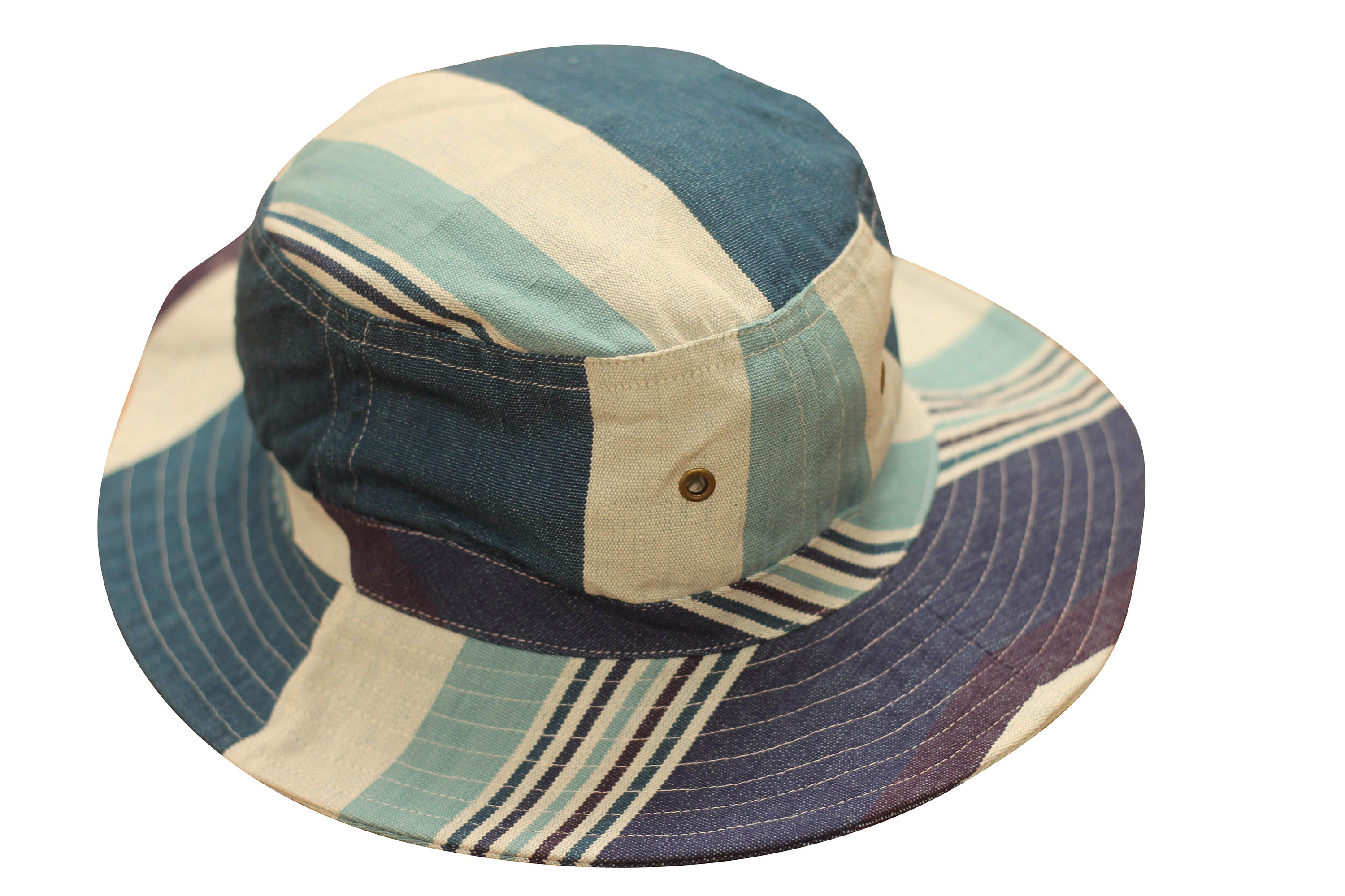 Teal Striped Sun Hats | Sun Protection Hat  Swing Stripes
