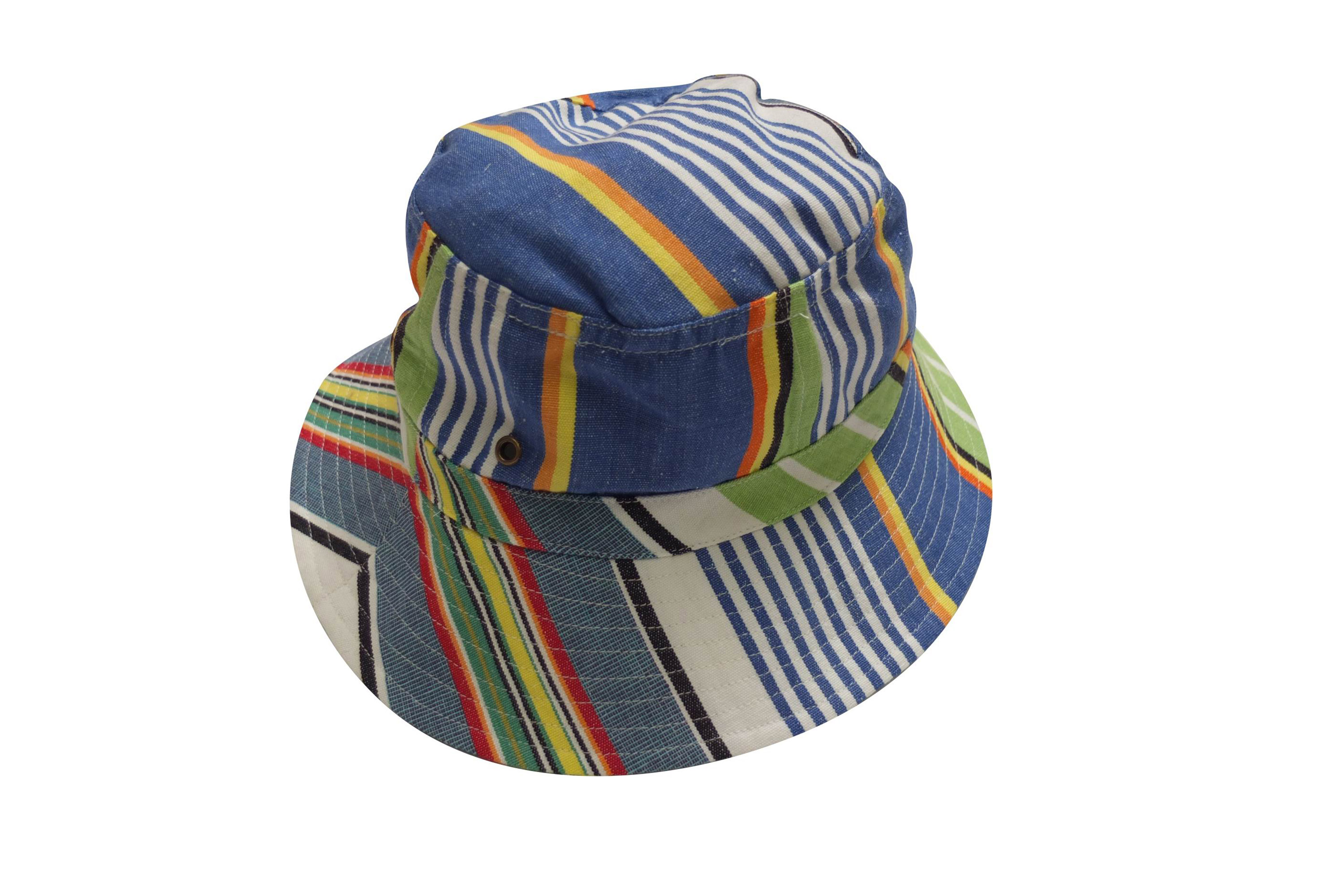 Denim Blue Striped Sun Hats | Sun Protection Hat | Tumbling Stripe