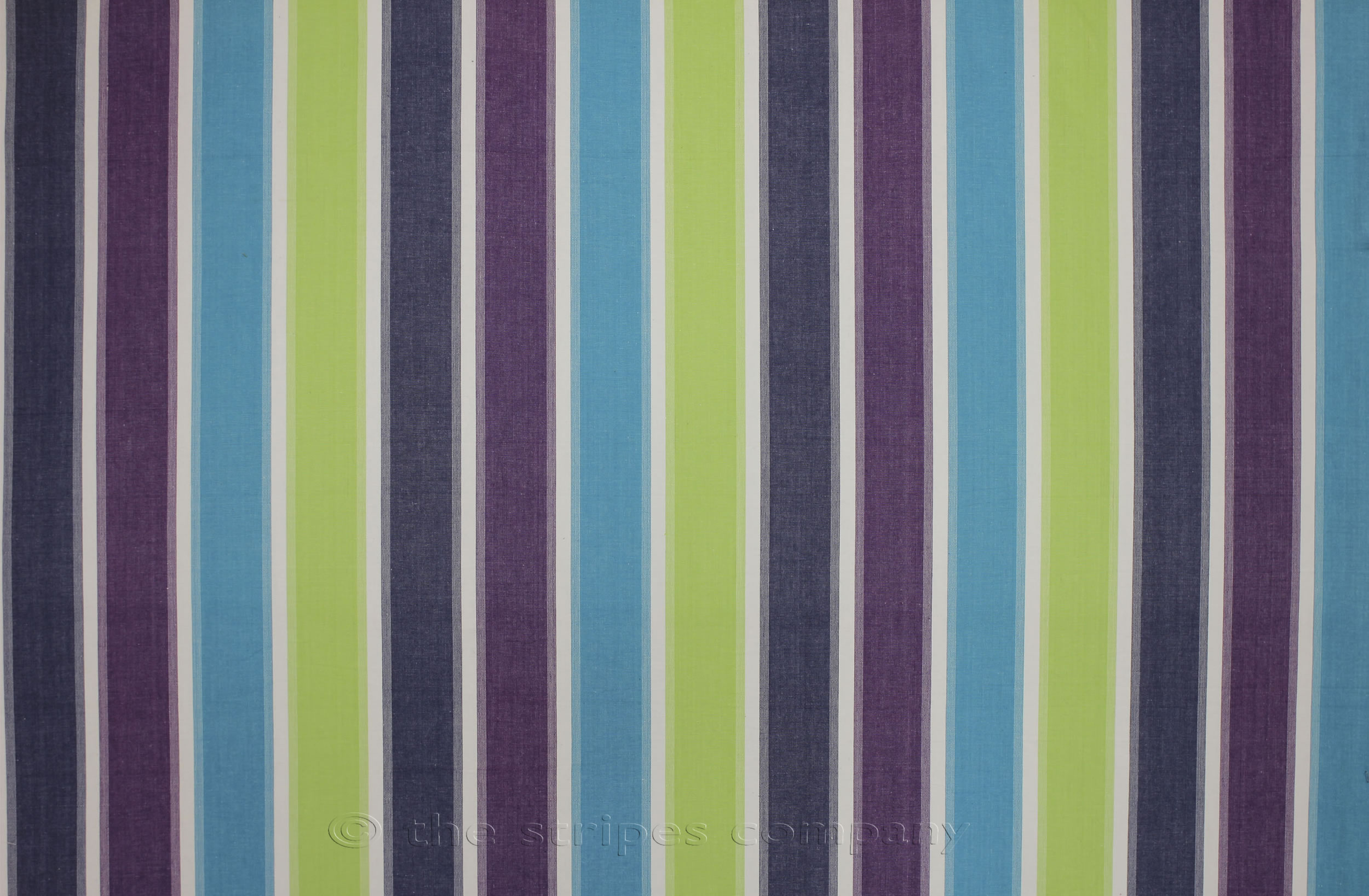 Striped Oilcloth Fabrics | Lime, Turquoise, Navy Stripe Wipe Clean Oilcloth Coated Fabrics