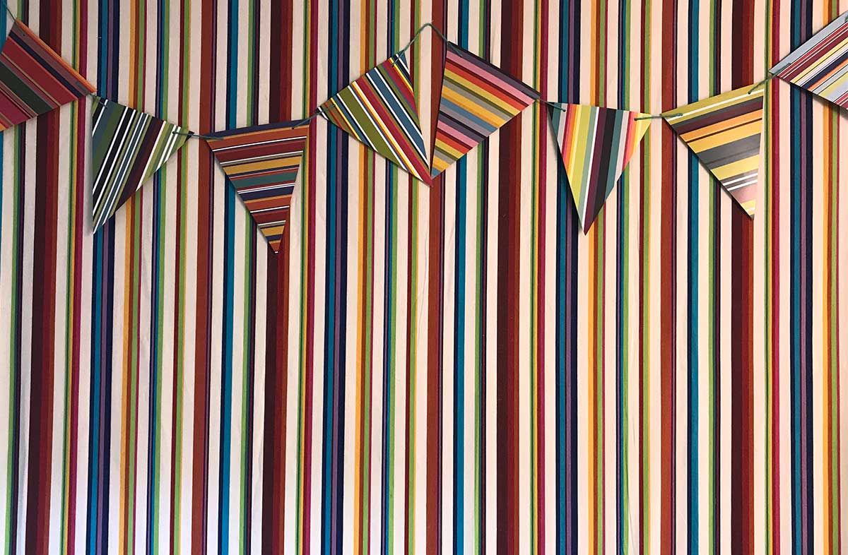 Striped Paper Card Bunting - The Stripes Company