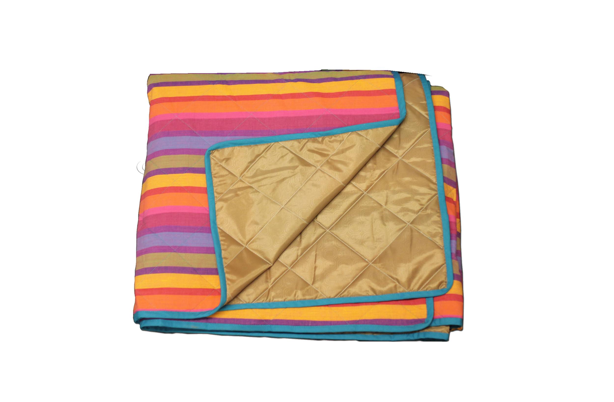 Striped Picnic Blanket | Roll Up Picnic Mats Multi Colour Stripes
