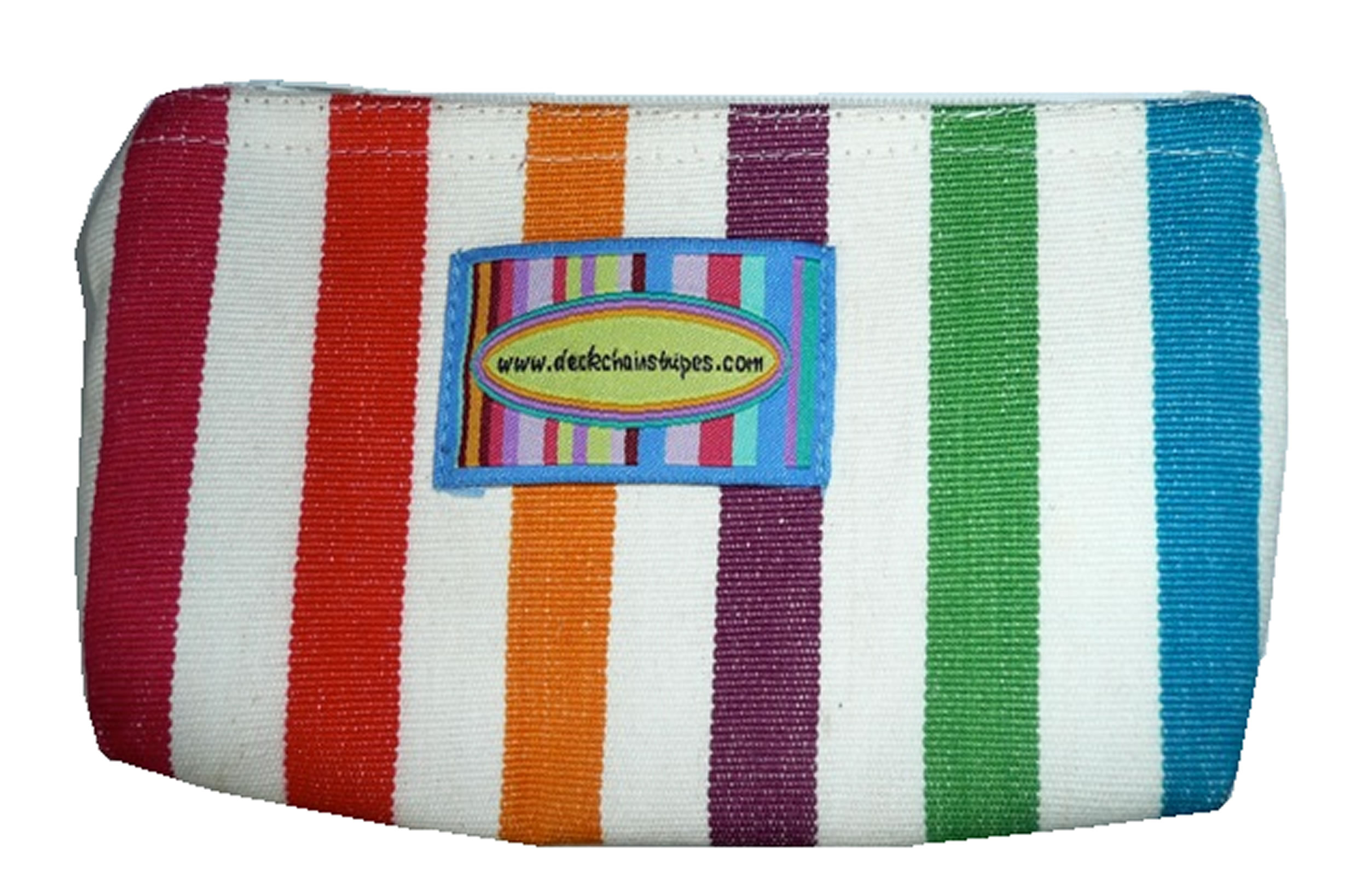 Striped purse with zip - Bungee stripe