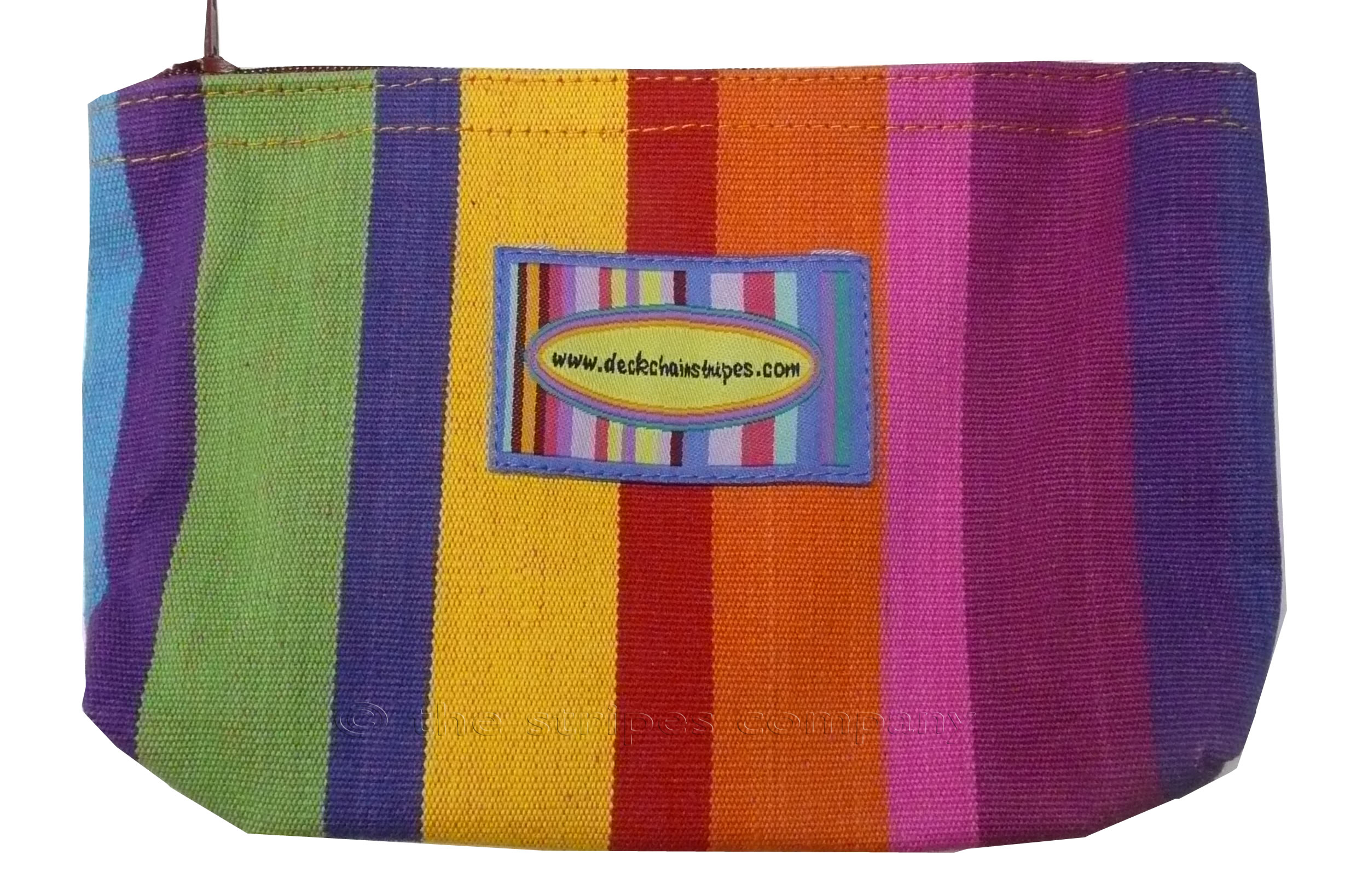Multi Colour Pink Green Blue  Striped Purses | Small Zipped Bags | Cosmetic Bags Rummy Stripes