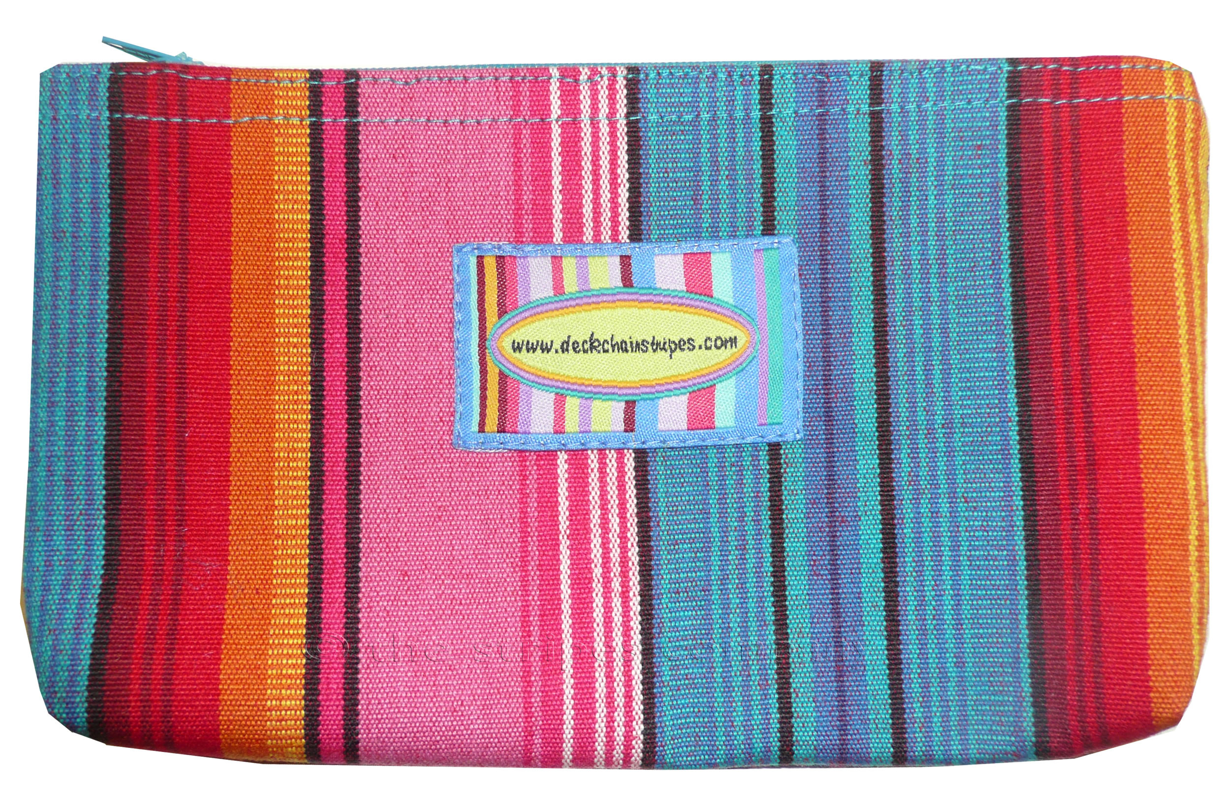 Pink Striped Purses | Cosmetic Bags Snorkelling Pink Stripe