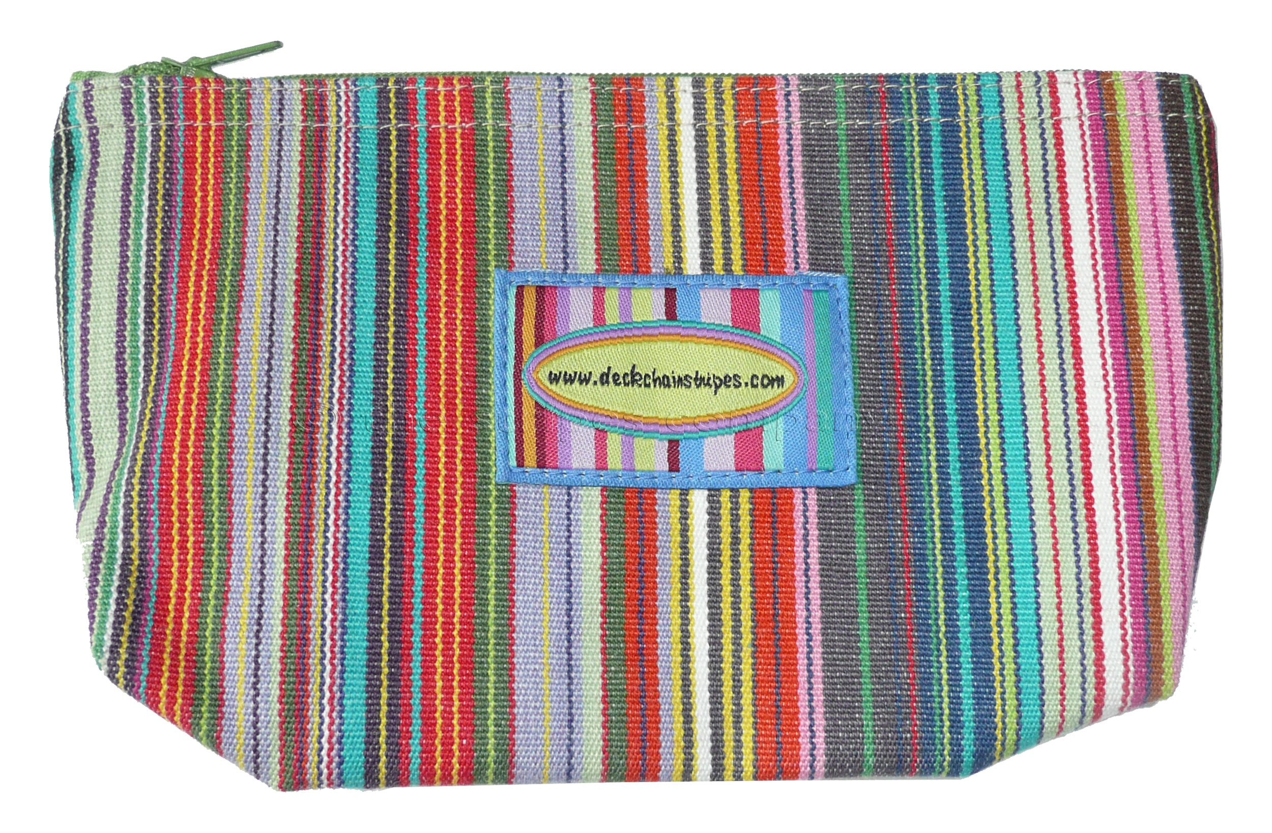 Thin Rainbow Multi Stripes  Striped Purses | Small Zipped Bags | Cosmetic Bags Mahjong Stripes
