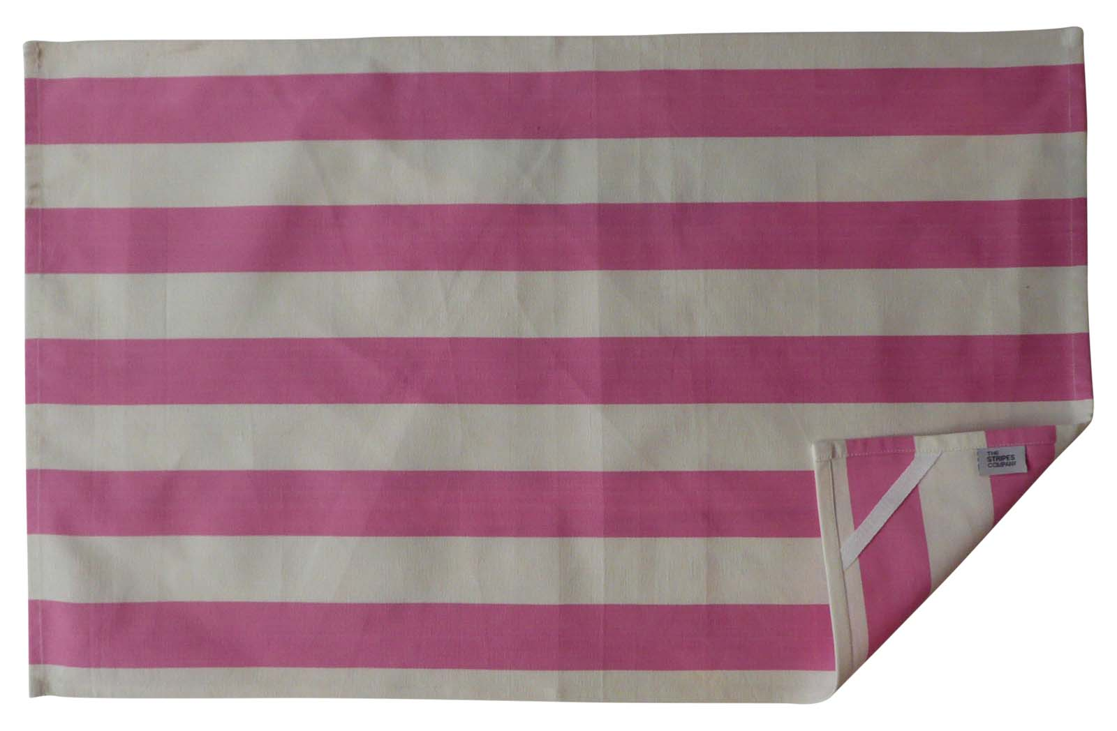 Pink White Stripe Tea Towels