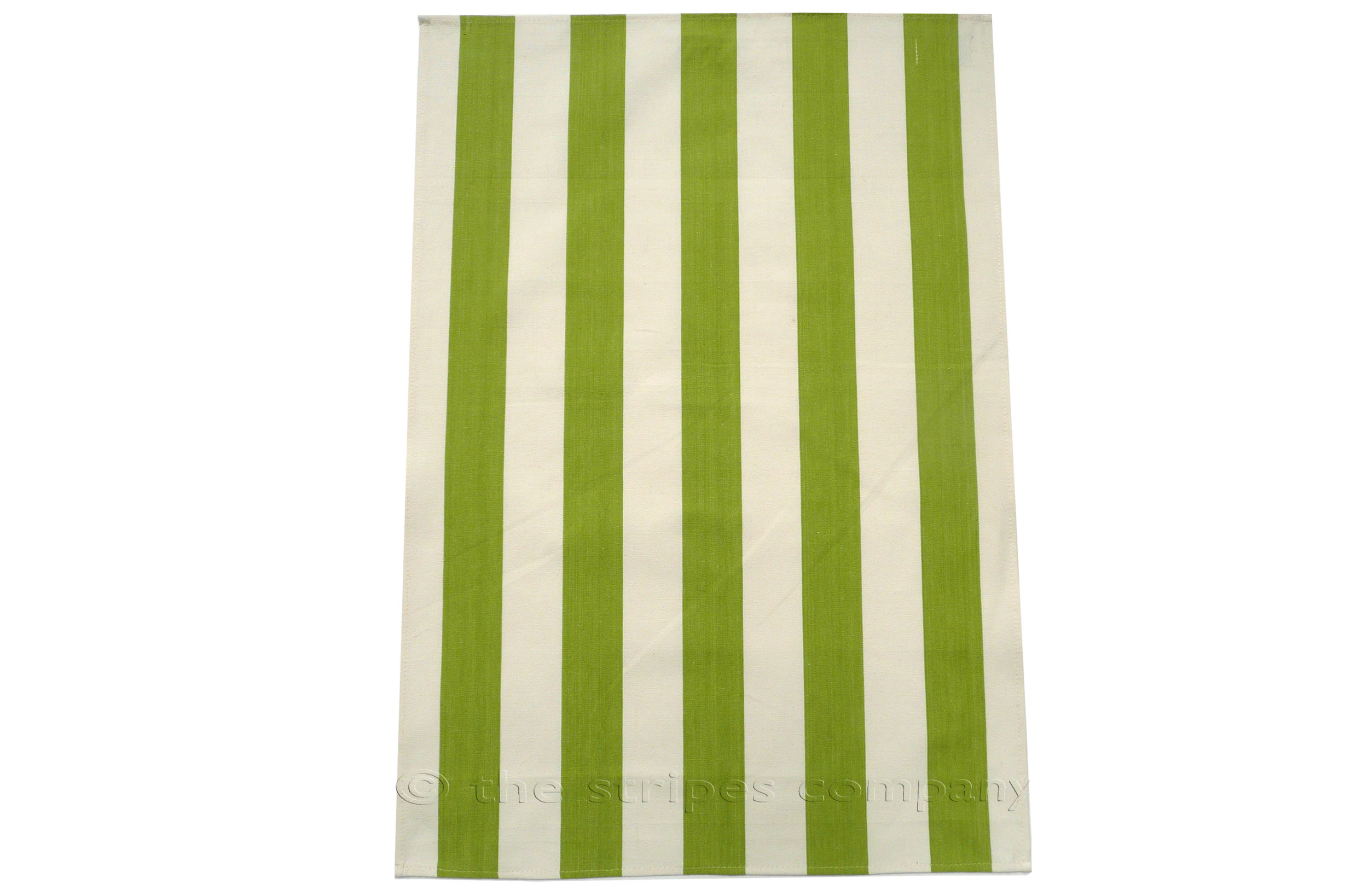 Lime Green Stripe Tea Towels