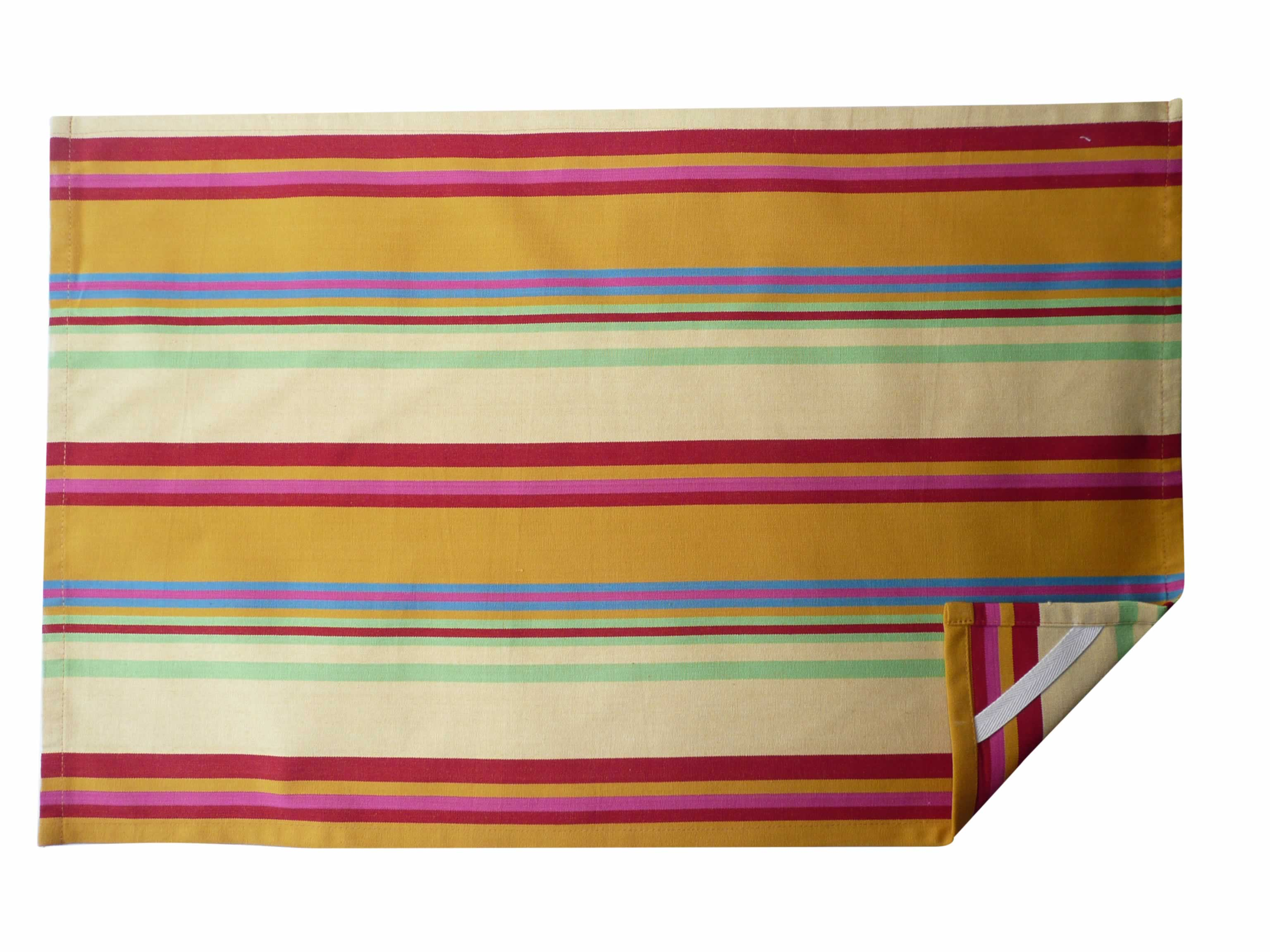 Striped Yellow Tea Towels