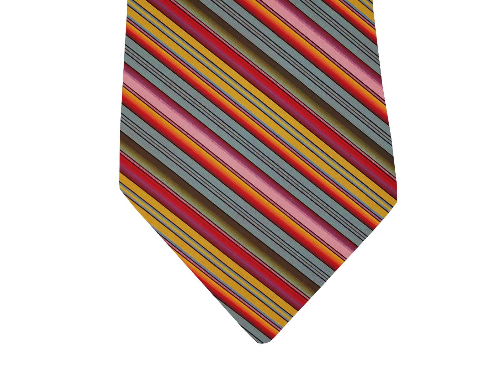 Vibrant Striped Tie from the Stripes Company blue, green, orange