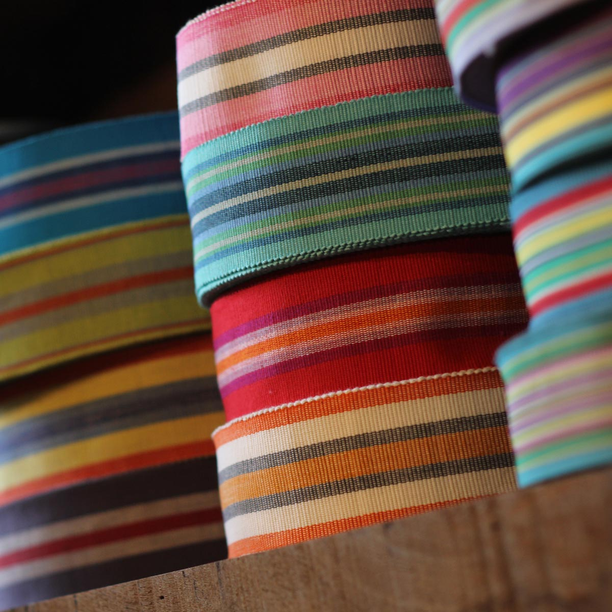 Samples of All our Striped Webbing