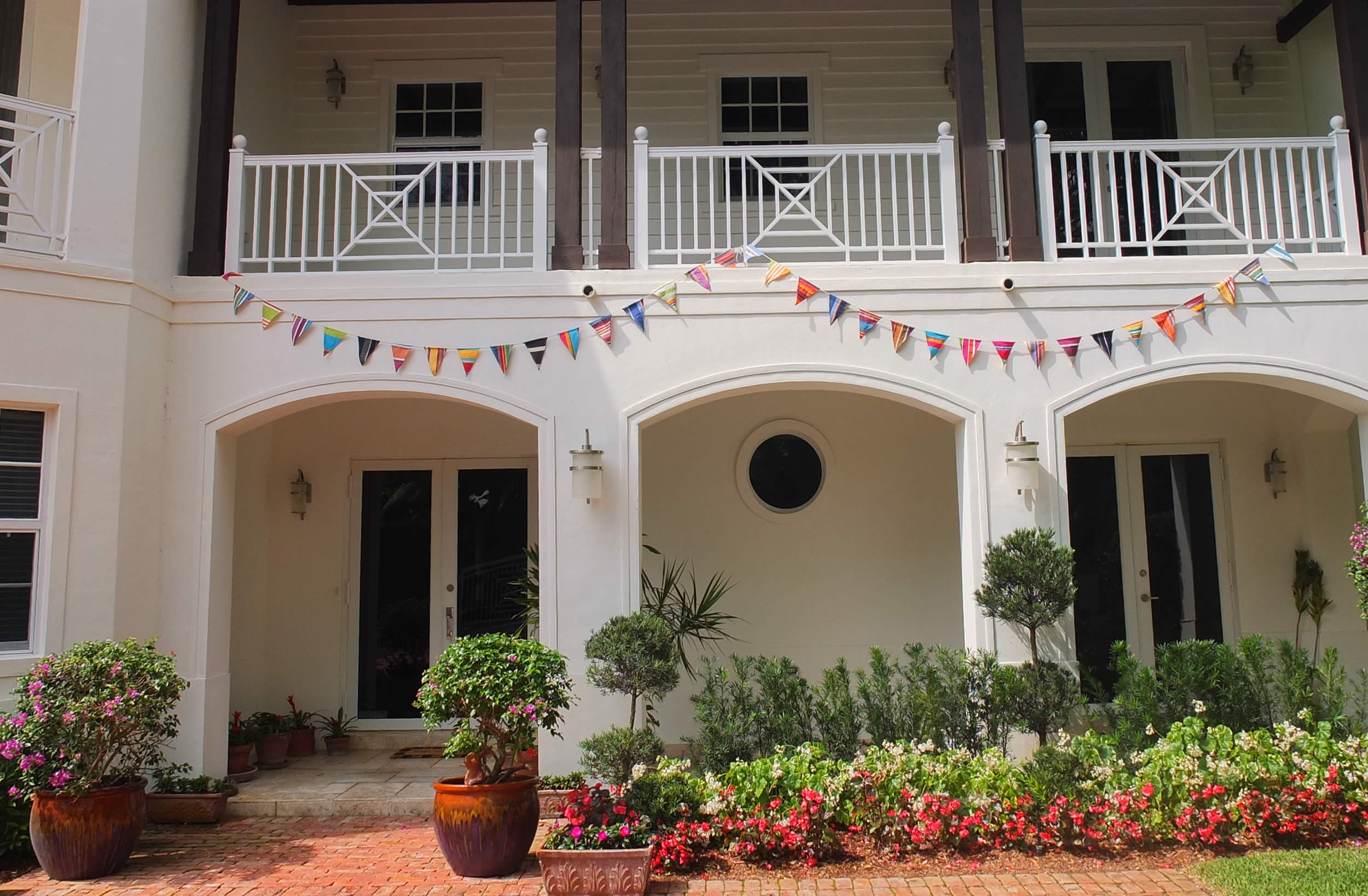 Striped Wedding Bunting