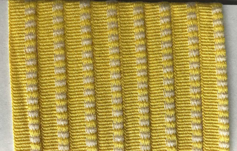 yellow white- Striped Woven Cotton Flat Piping