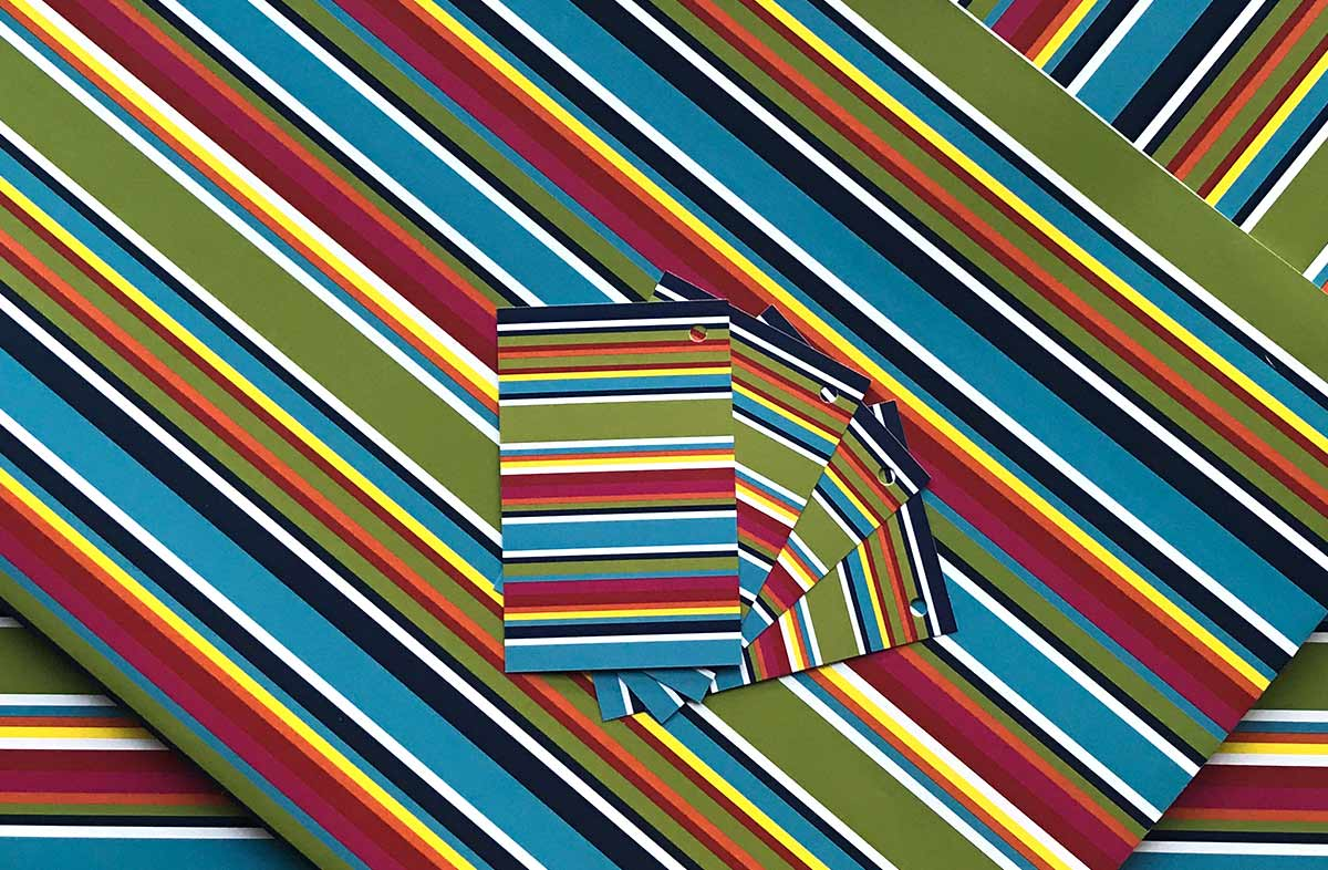 Colourful Striped Wrapping Paper