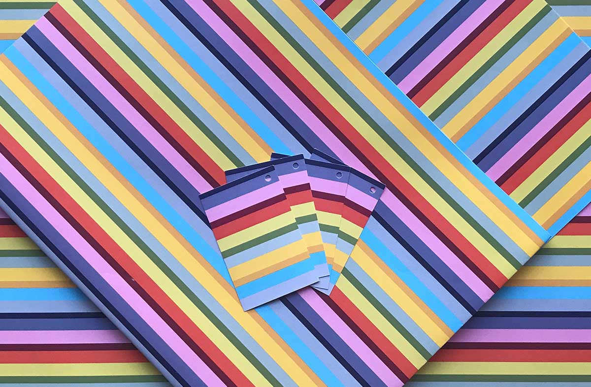 Rainbow Striped Wrapping Paper