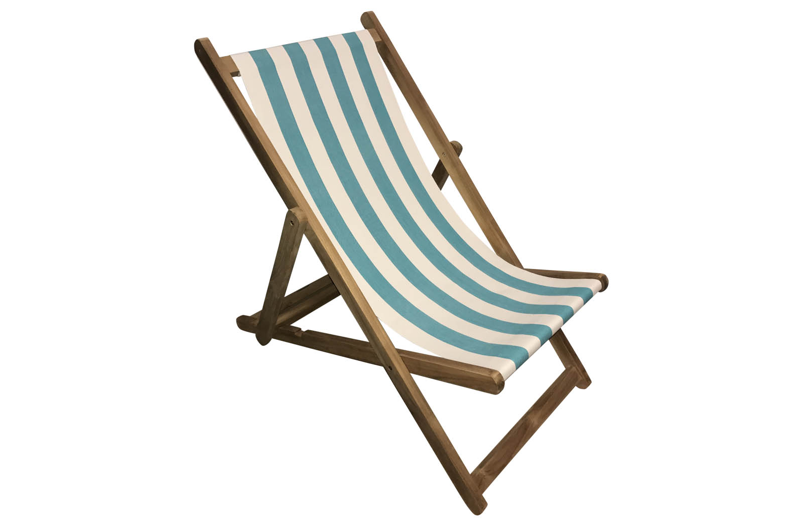 Turquoise and White Stripe Deckchairs