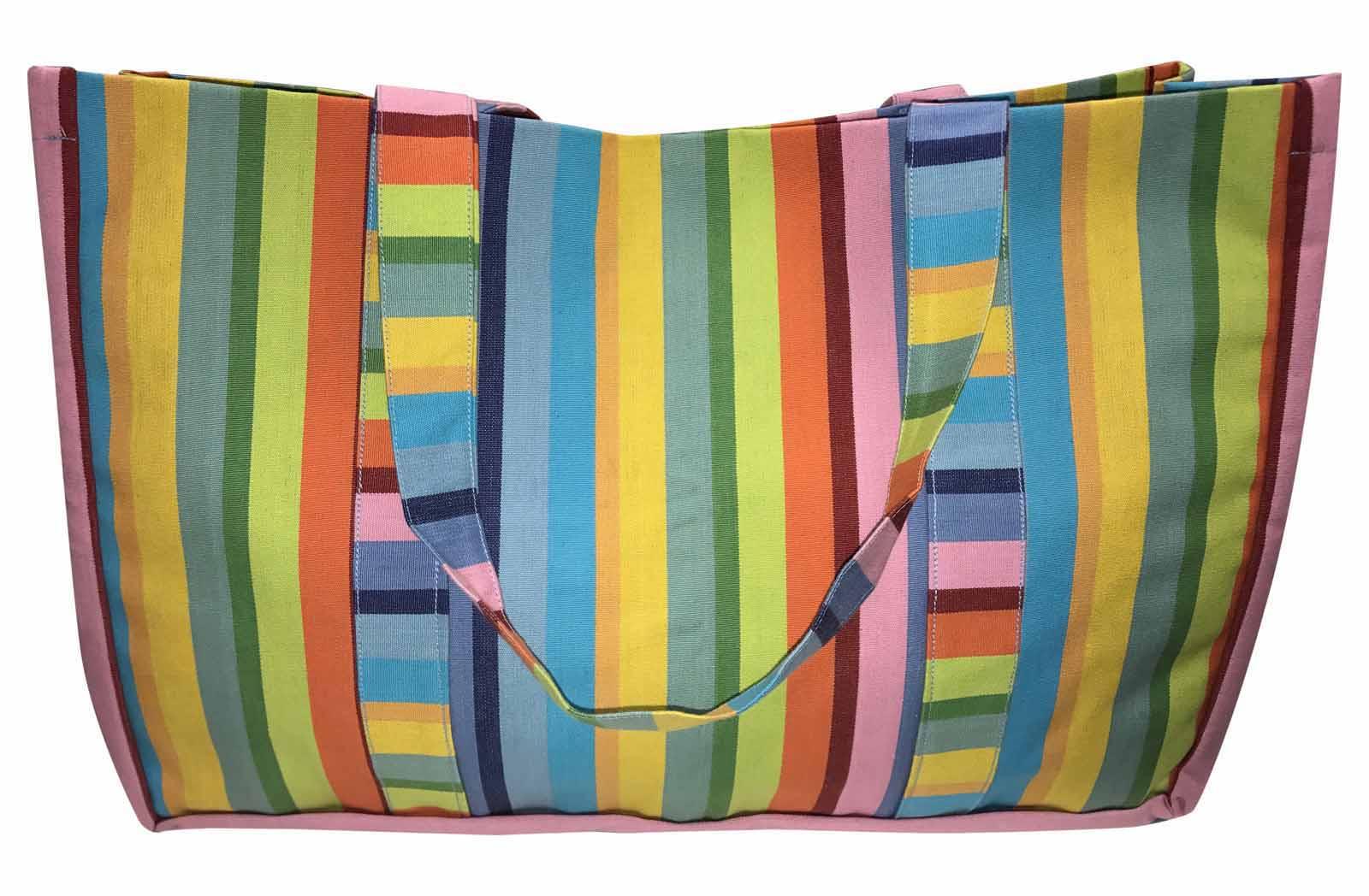 Extra Large Beach Bags Rainbow Stripes | The Stripes Company UK