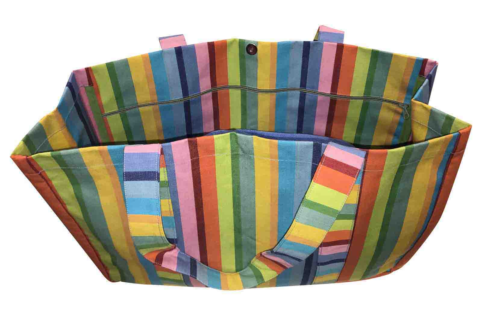 Extra Large Beach Bags Rainbow Stripes | The Stripes Company UK