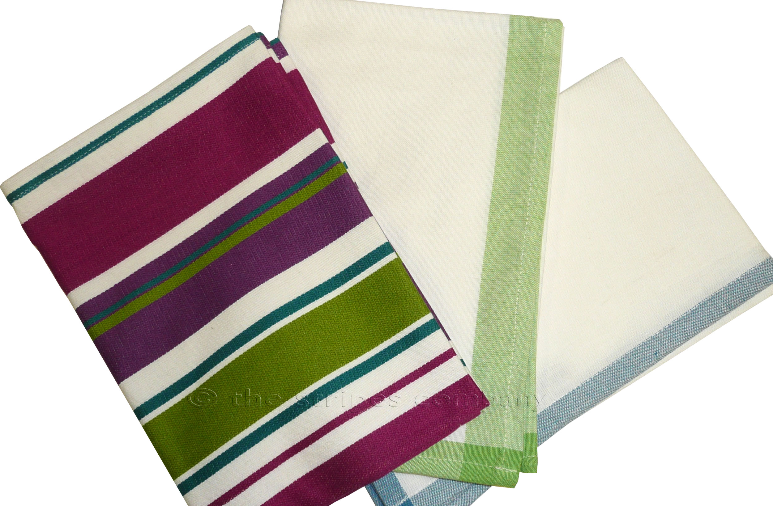 Set of 3 Stripe Tea Towels