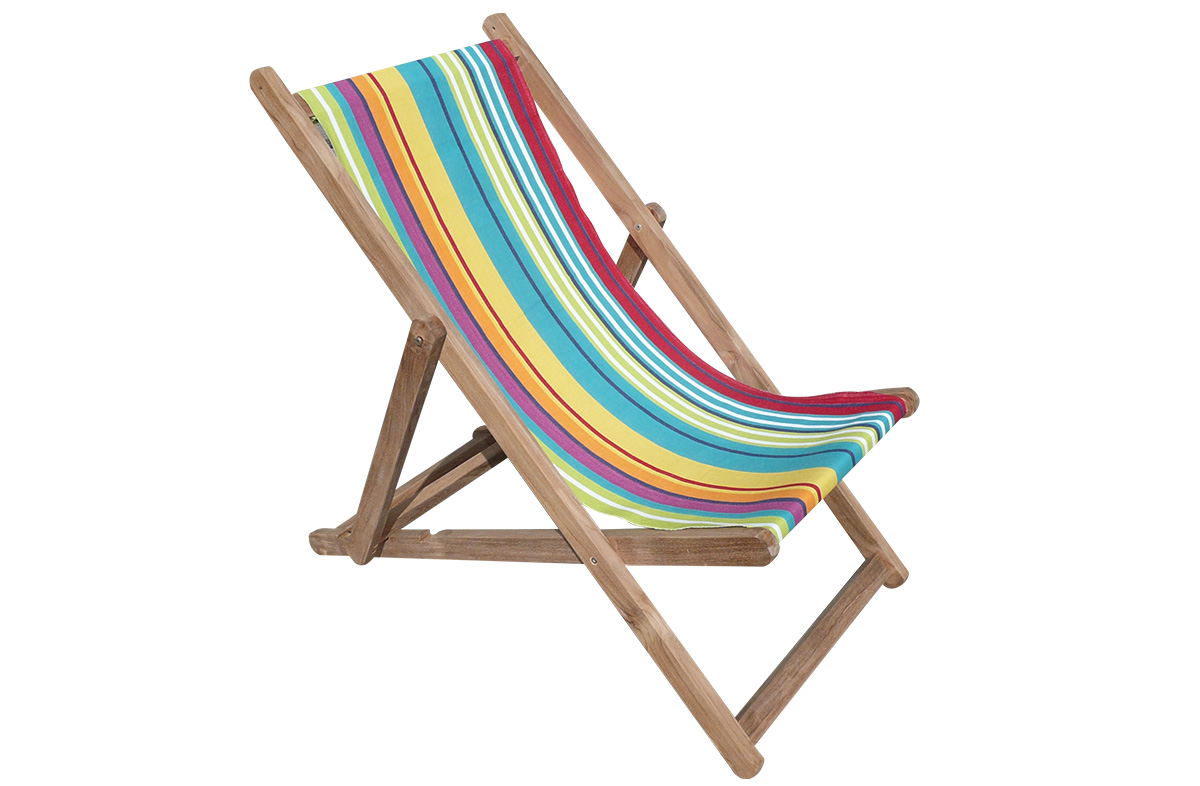 Striped Deckchairs | Wooden Folding Striped Deck Chairs Aerobics Stripe