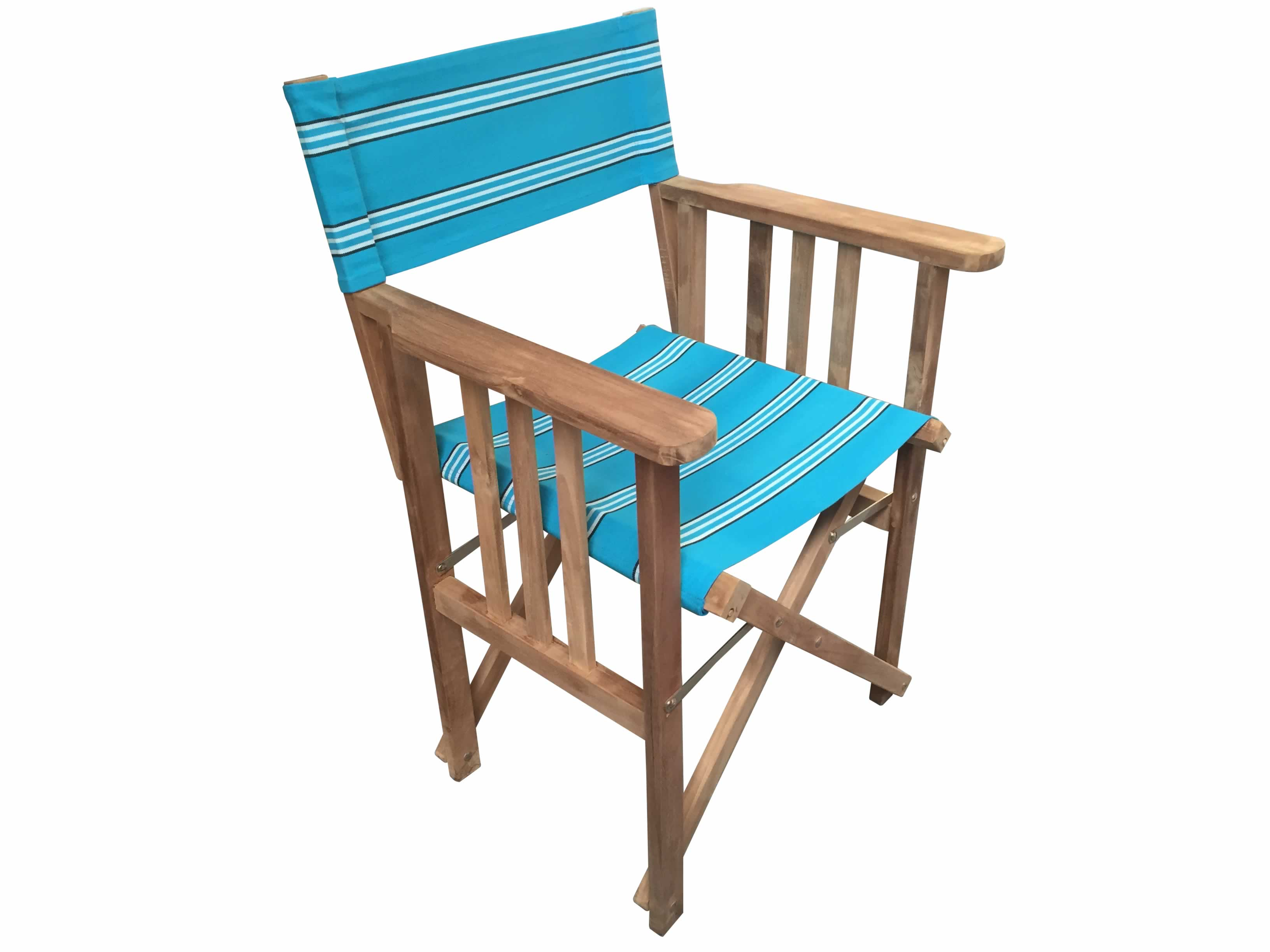 Turquoise Directors Chair - Fives Stripe