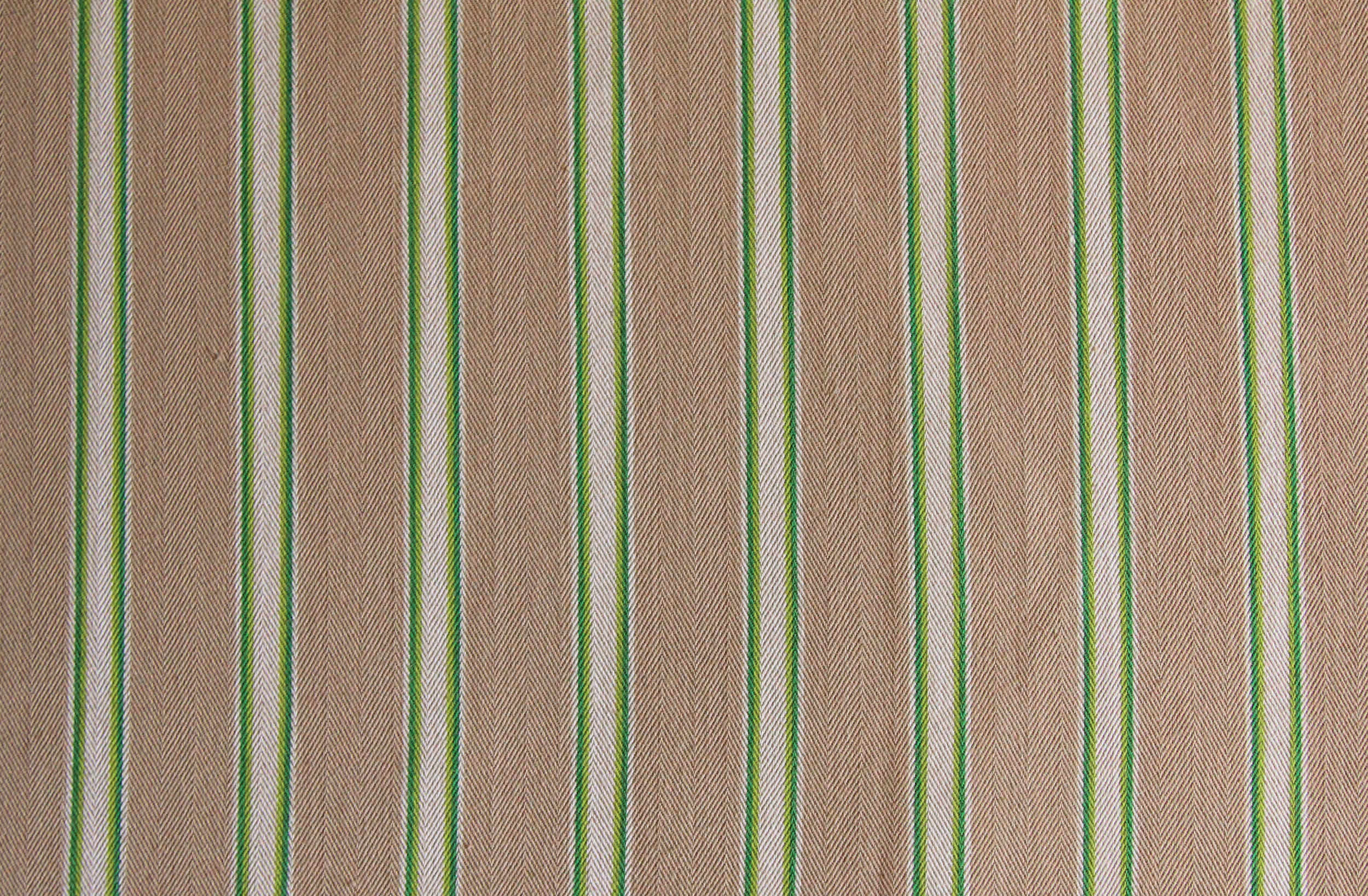 Beige and Green Ticking Fabrics