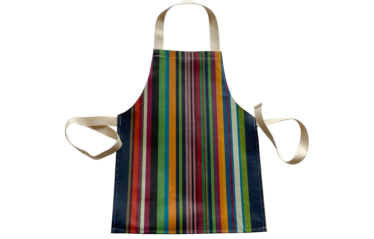 Multi-Coloured Toddlers Stripe PVC Oilcloth Aprons