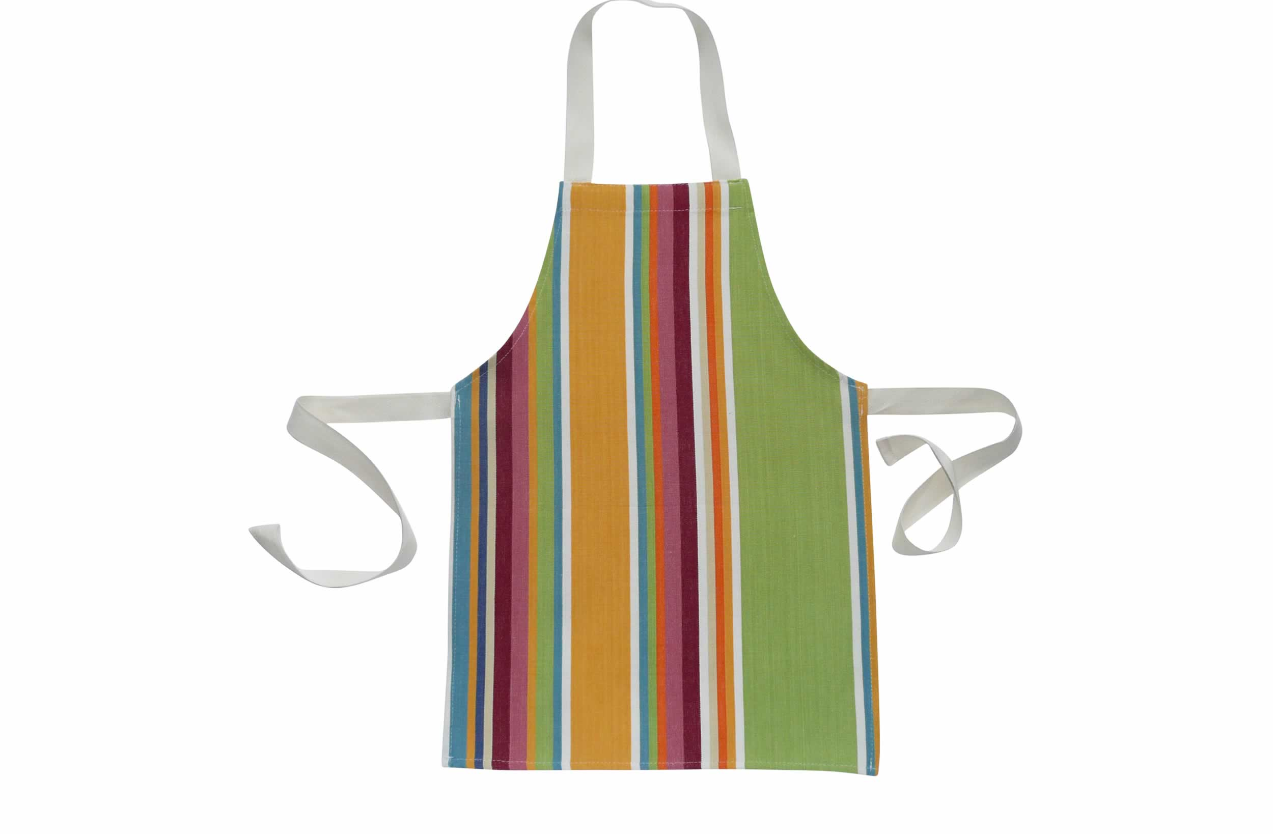 Yellow Toddlers Aprons - Striped Aprons For Small Children
