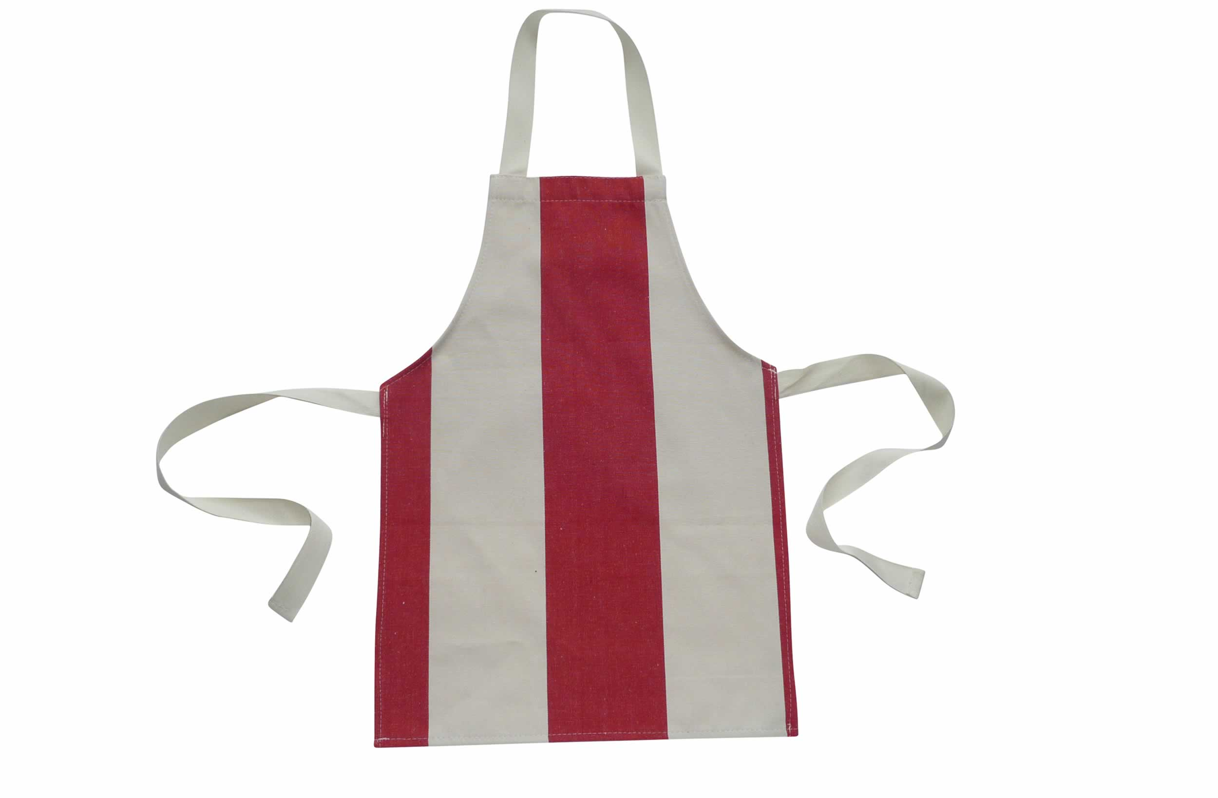 Red and White Striped Toddlers Aprons
