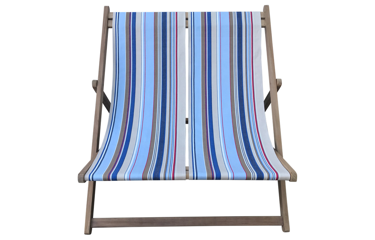 Double Deckchairs pale blue, light beige, royal blue