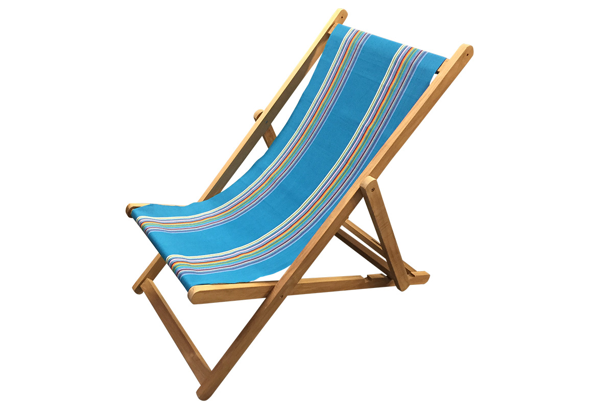 Dark Turquoise Deckchairs | Wooden Folding Deck Chairs