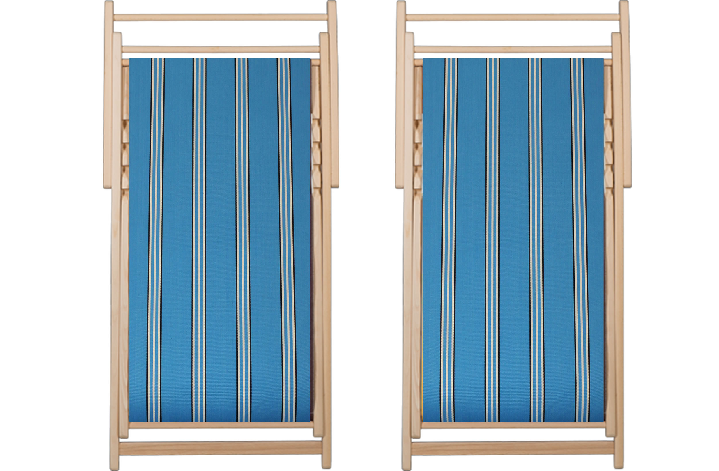 Turquoise Deckchairs | Wooden Folding Deck Chairs Fives Stripes