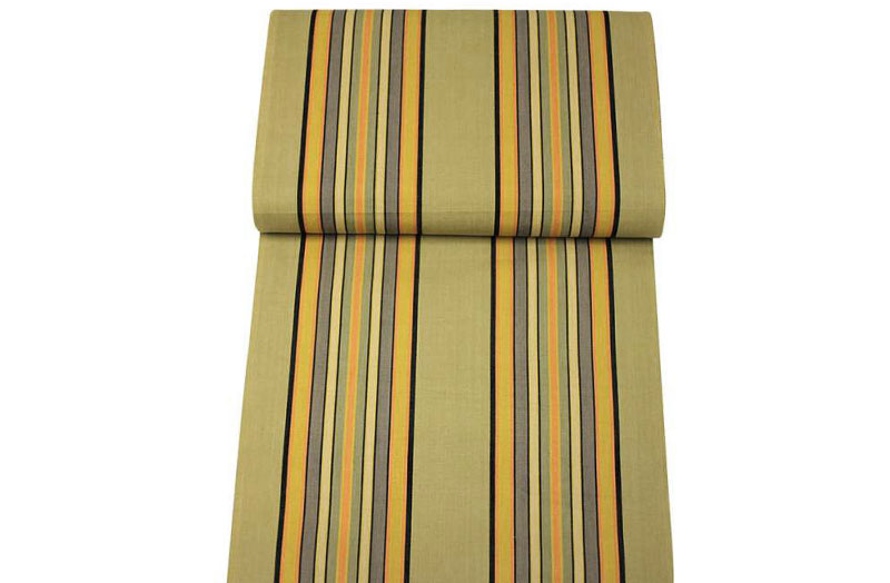 Khaki Deckchair Canvas | Vintage Deckchair Fabric Kickball