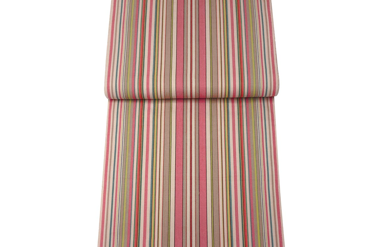Coral Deckchair Canvas Vintage Archive Striped Fabrics | Vintage Deckchair Fabric Slamball Stripes