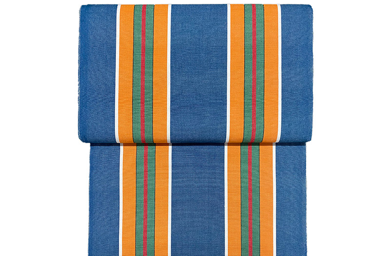 Vintage Blue Stripe Material For Deckchairs and Directors Chairs.