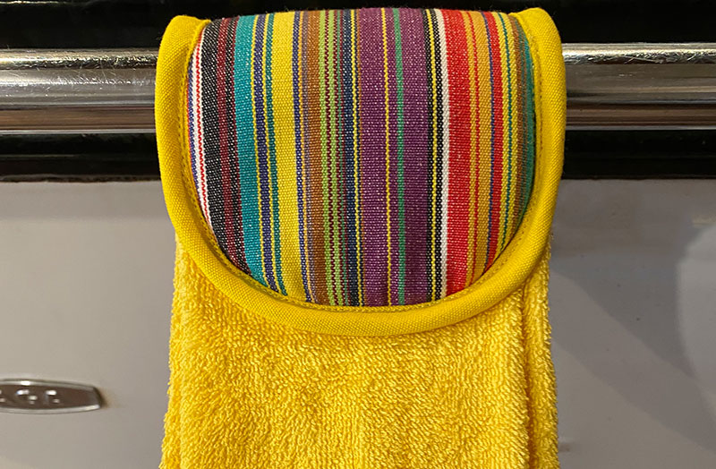 Yellow Hanging Hand Towels for Aga or Cooker