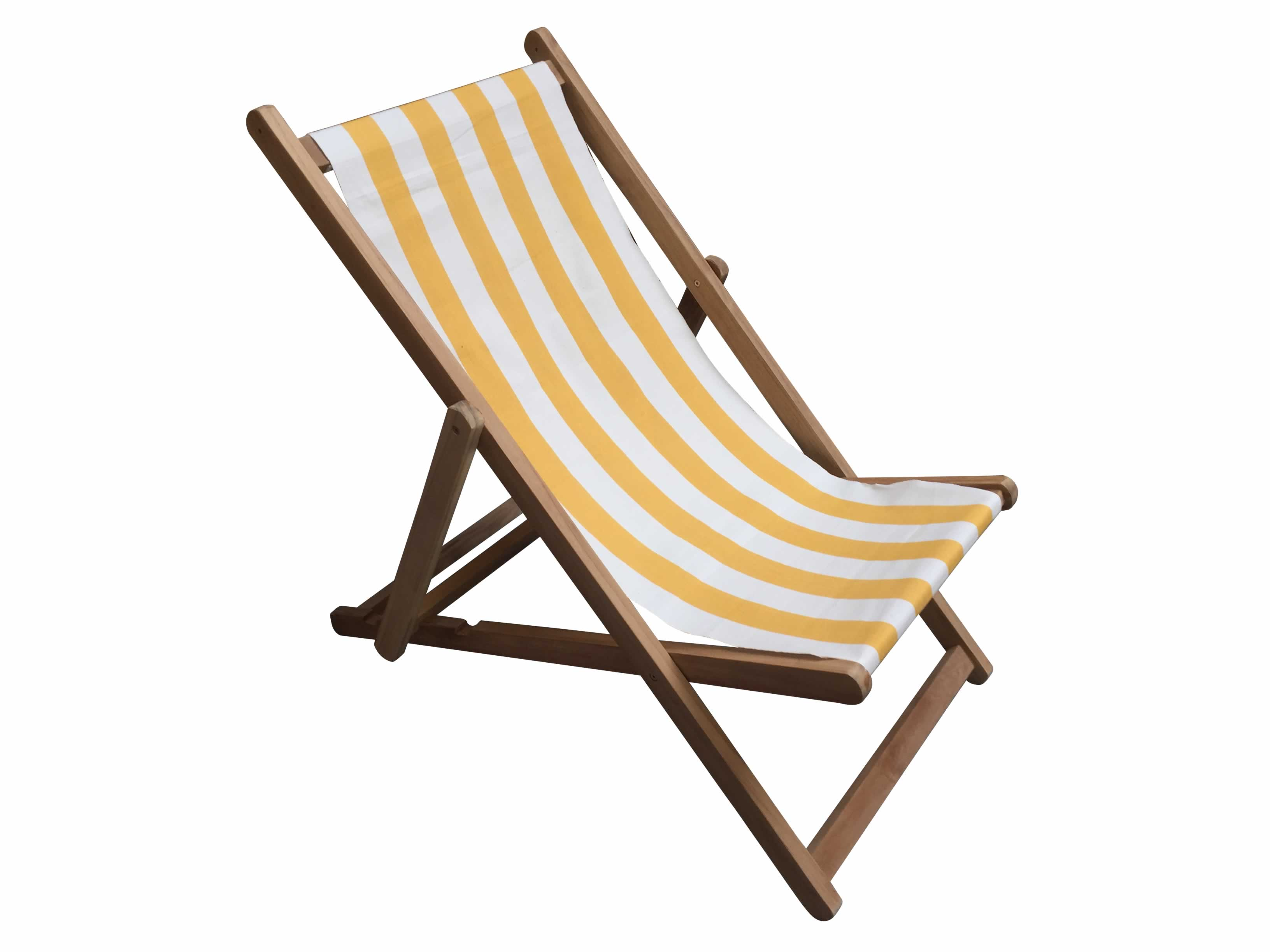 Yellow and White Stripe Deckchairs